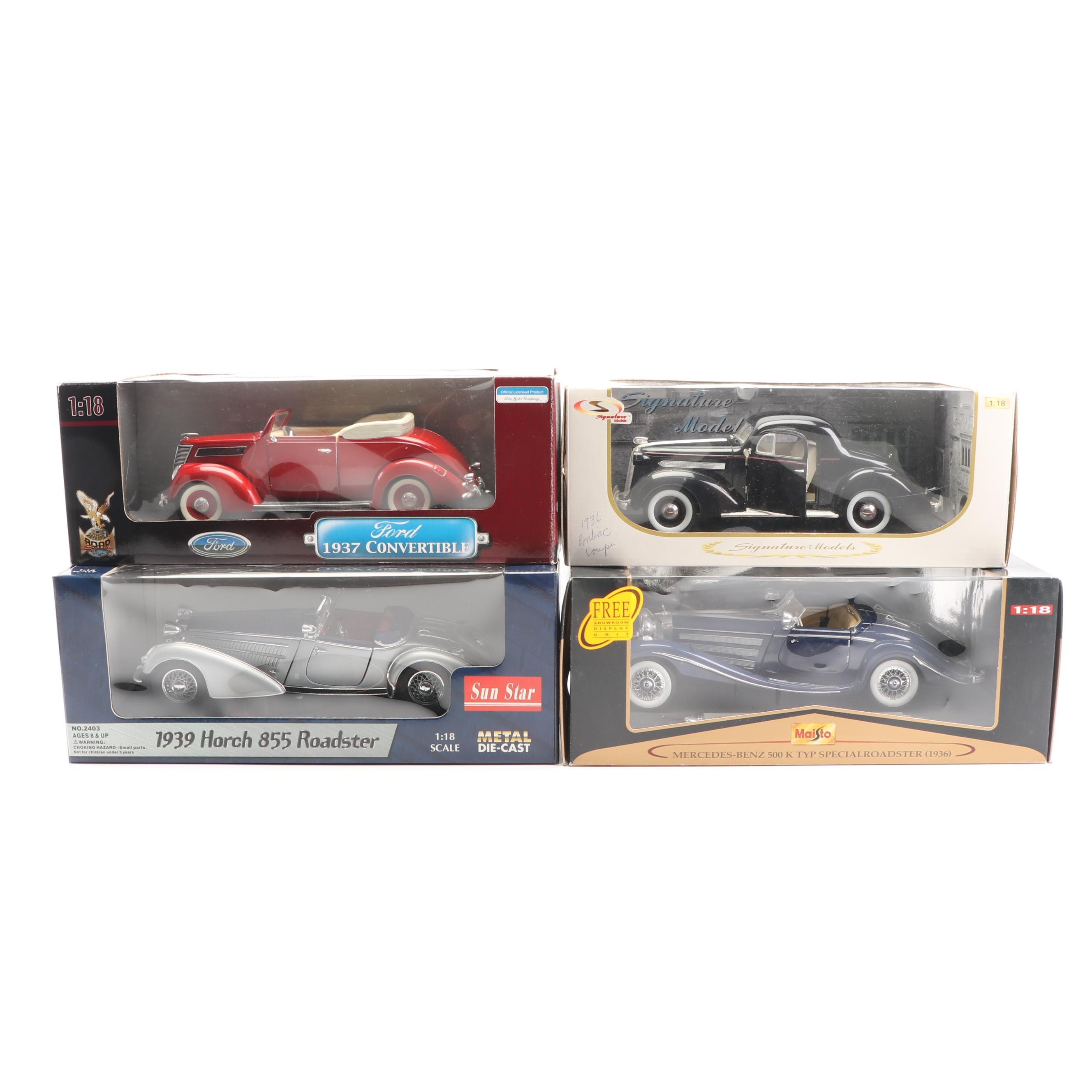 1930s Die-Cast Cars including Sun Star and Signature Models