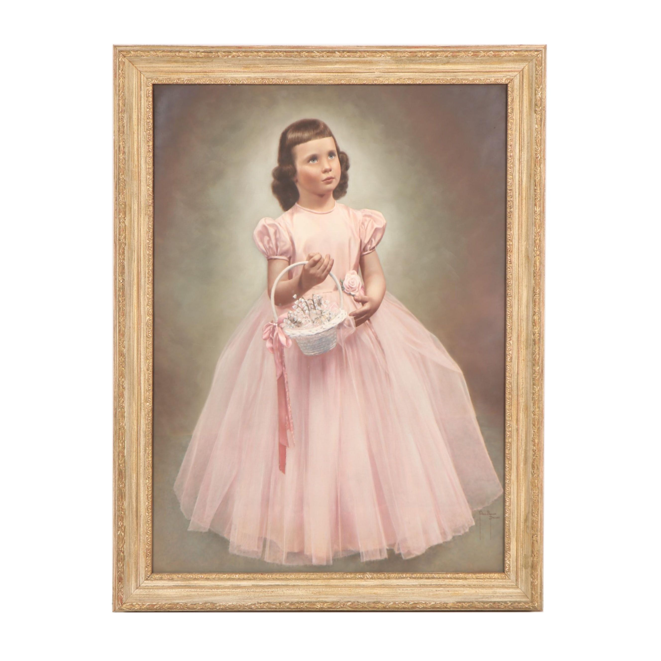 Paul Bynum Oil Portrait of a Young Girl