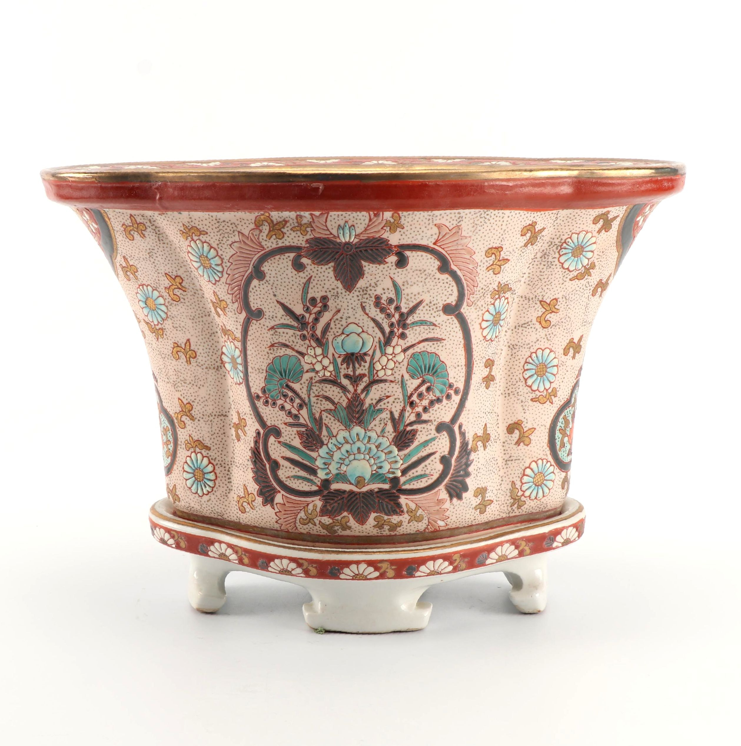 Chinese Porcelain Planter with Stand
