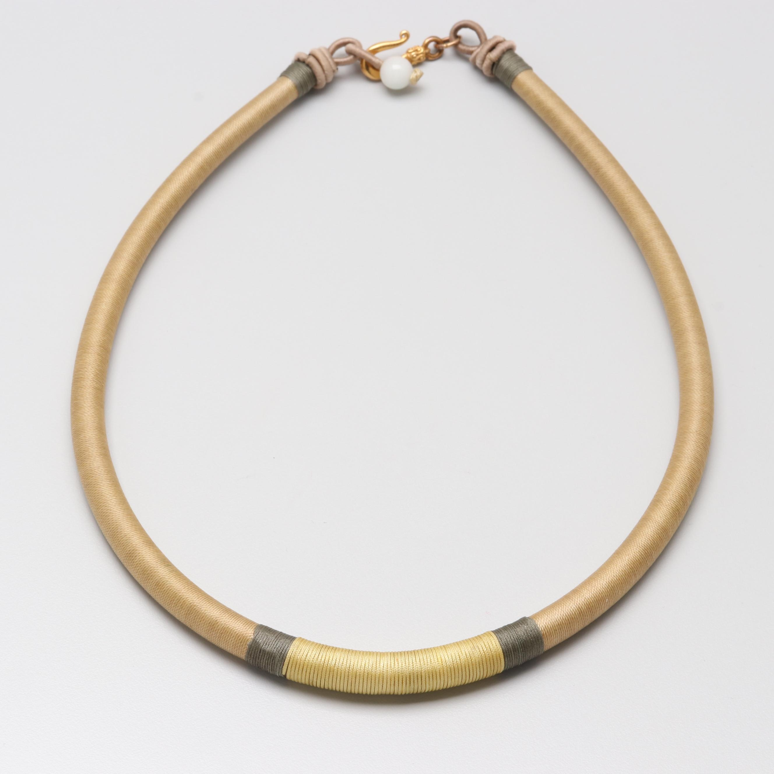 Gold Tone Cord Necklace