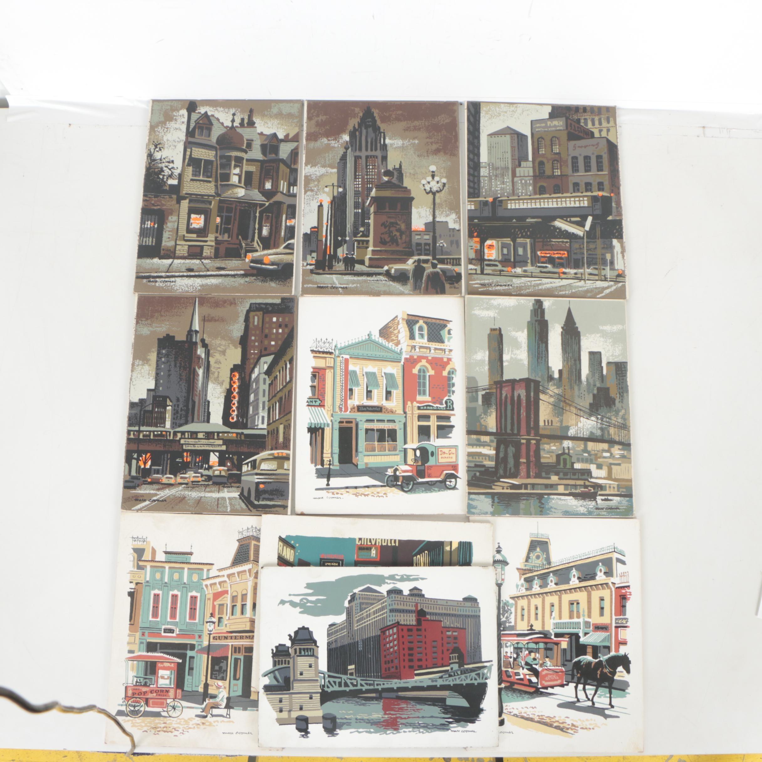 Mark Coomer Serigraph of Architectural Landscapes
