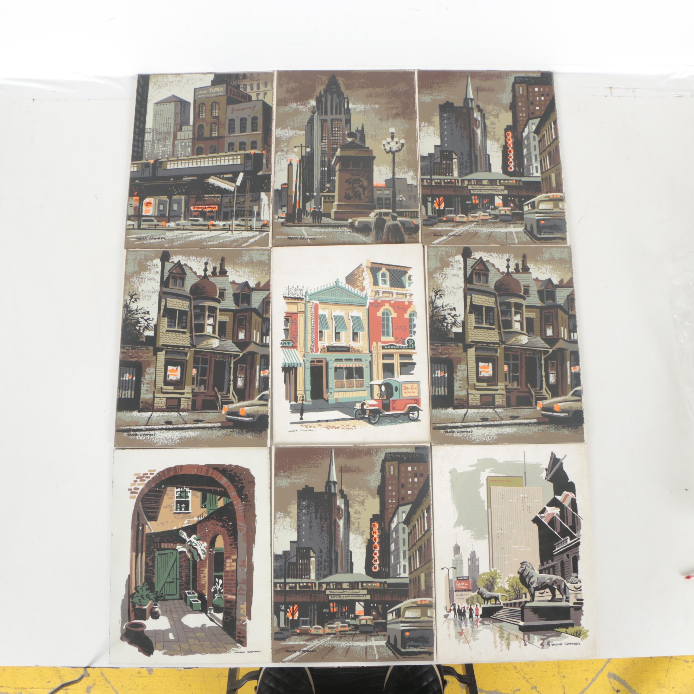 Mark Coomer Serigraphs of Architectural Landscapes