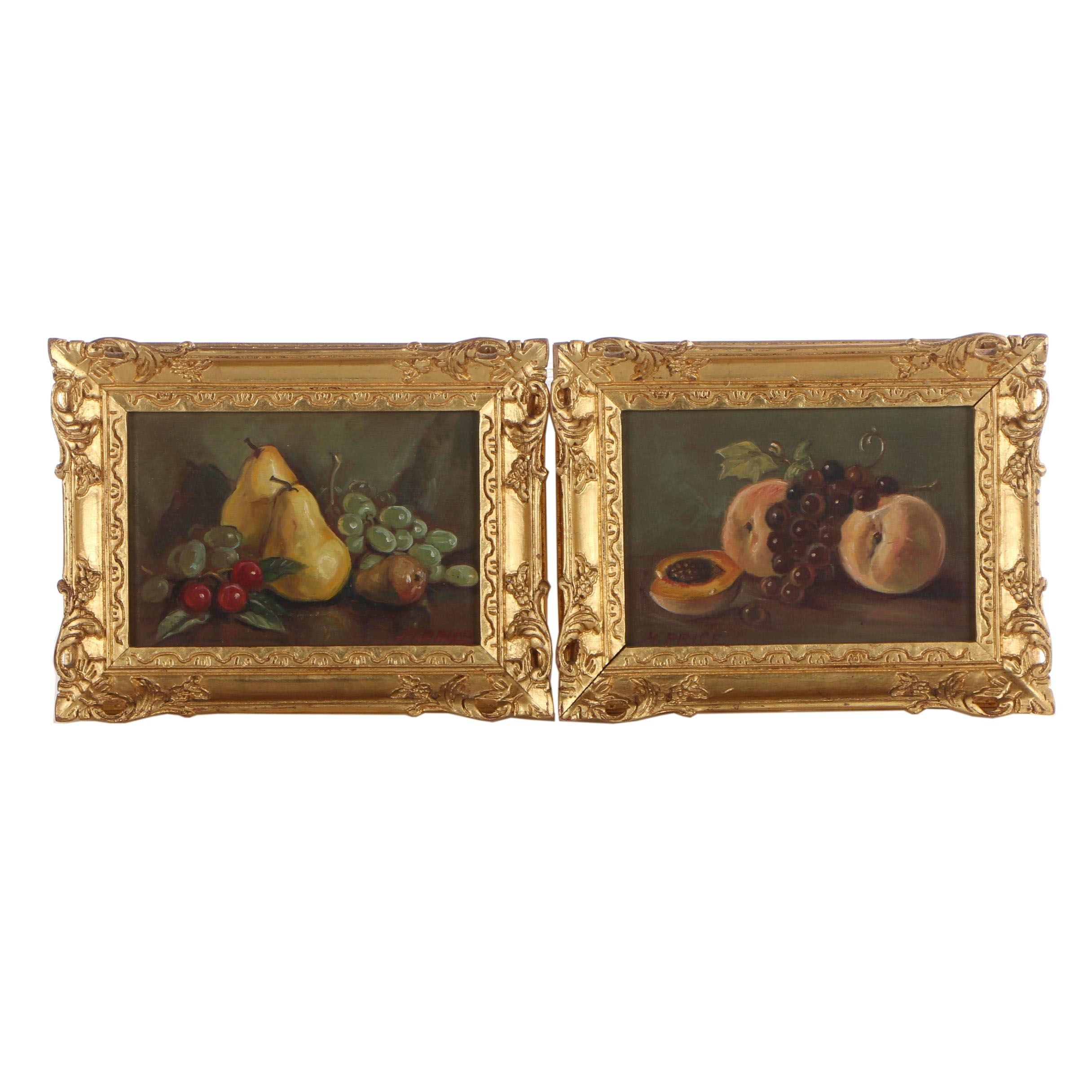 M. Price Still Life Oil Paintings