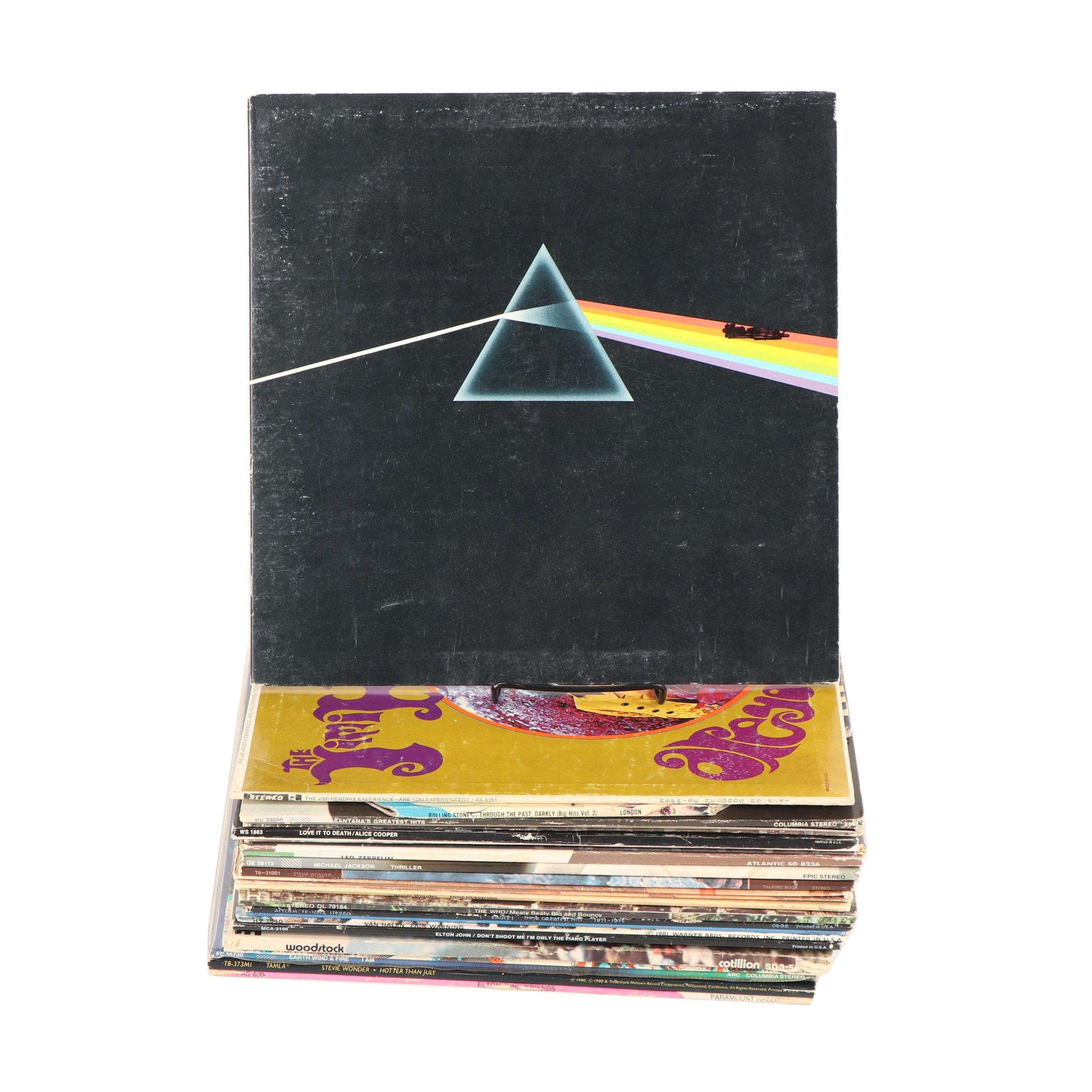 1970s-1980s Rock Records including Led Zepplin, Pink Floyd and Van Halen