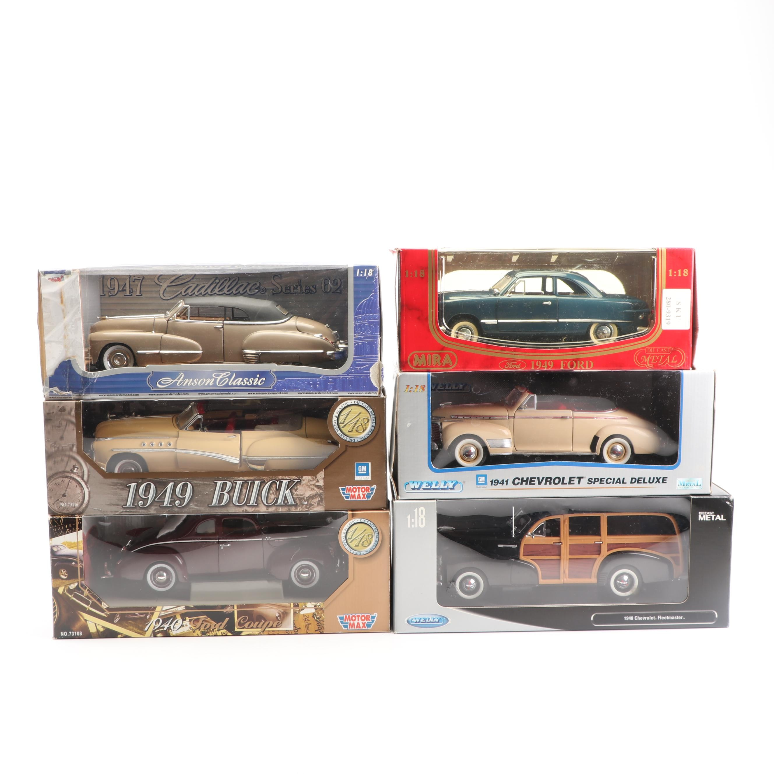 1940s Die-Cast Cars including Welly