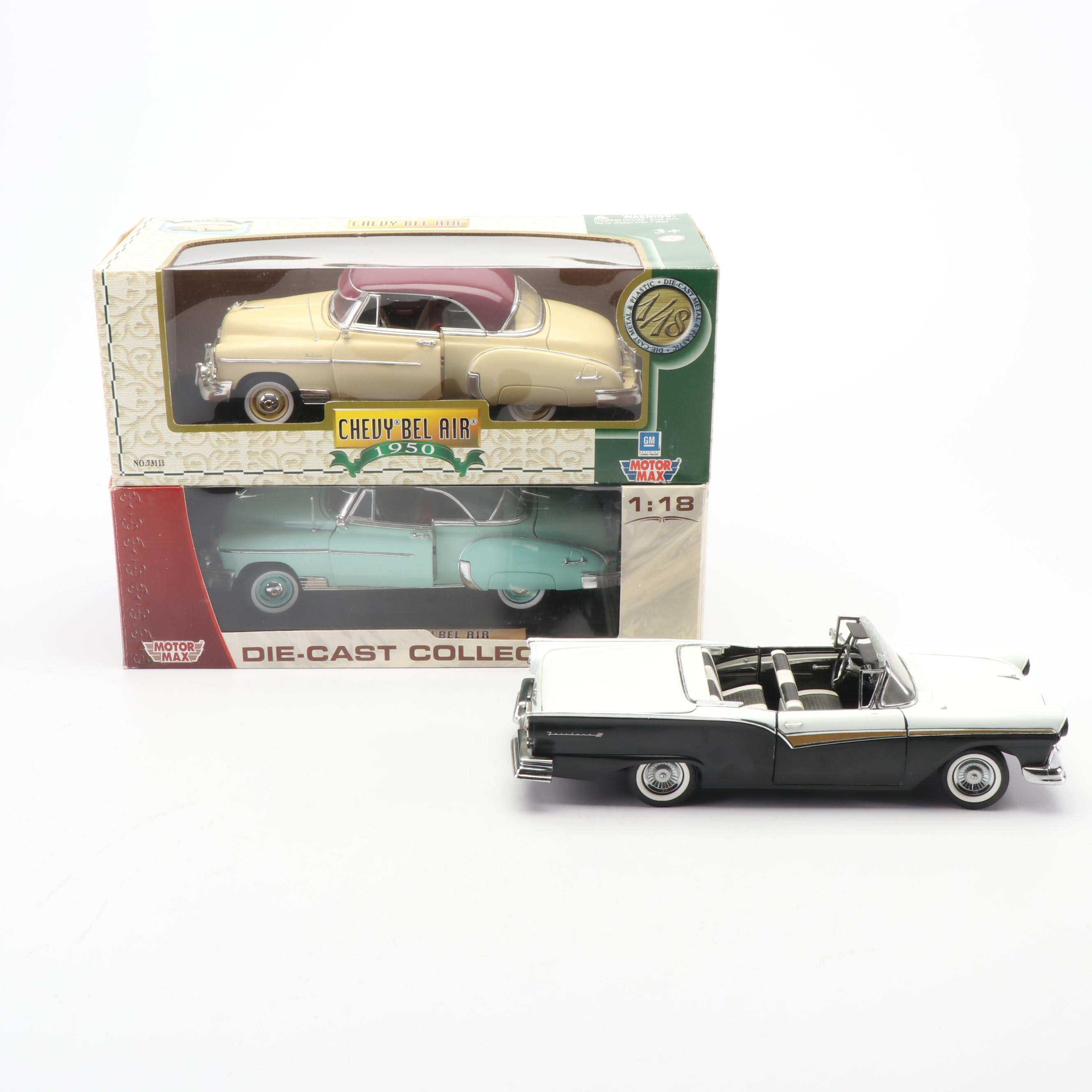 1950s Die-Cast Cars including Sun Star and Motor Max