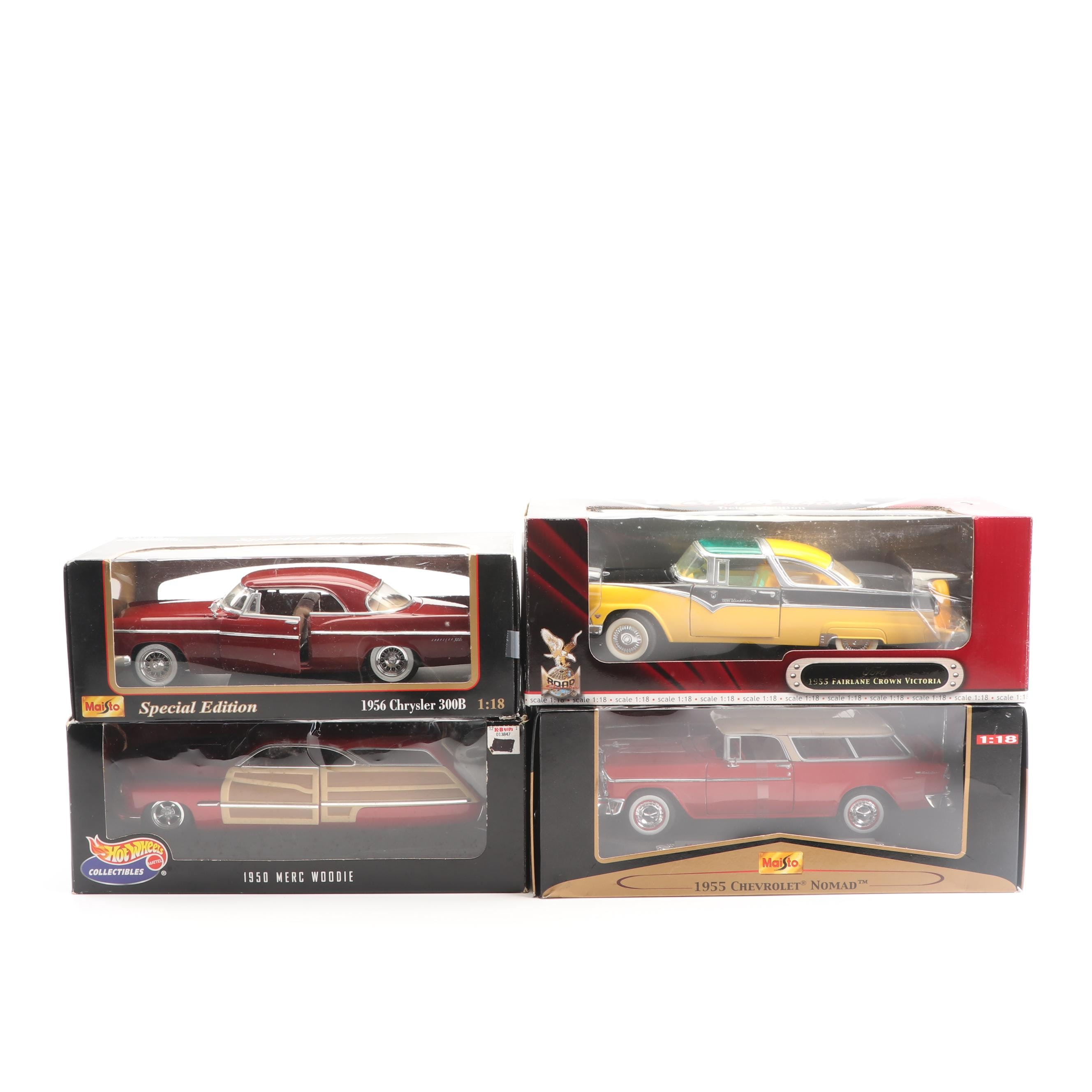1950s Die-Cast Cars including Hot Wheels and Maisto