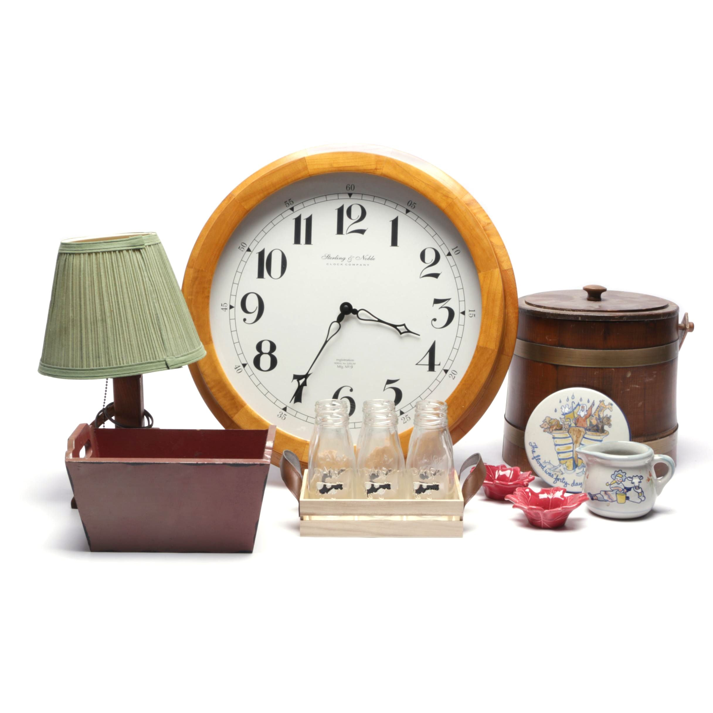 Decor Items Including Novelty Wall Clock by Sterling & Noble