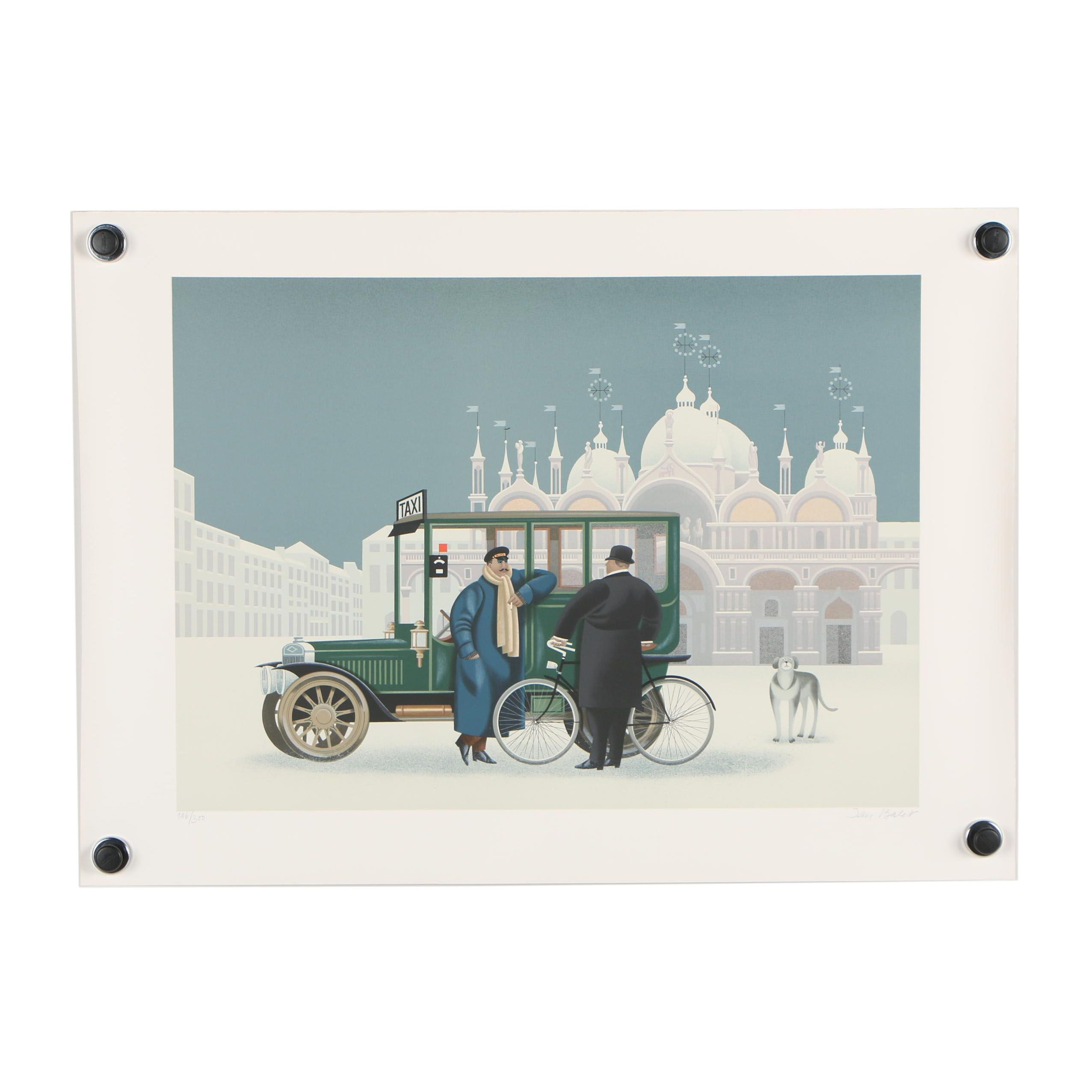 "Jan Balet Lithograph ""Winter in Venice"""