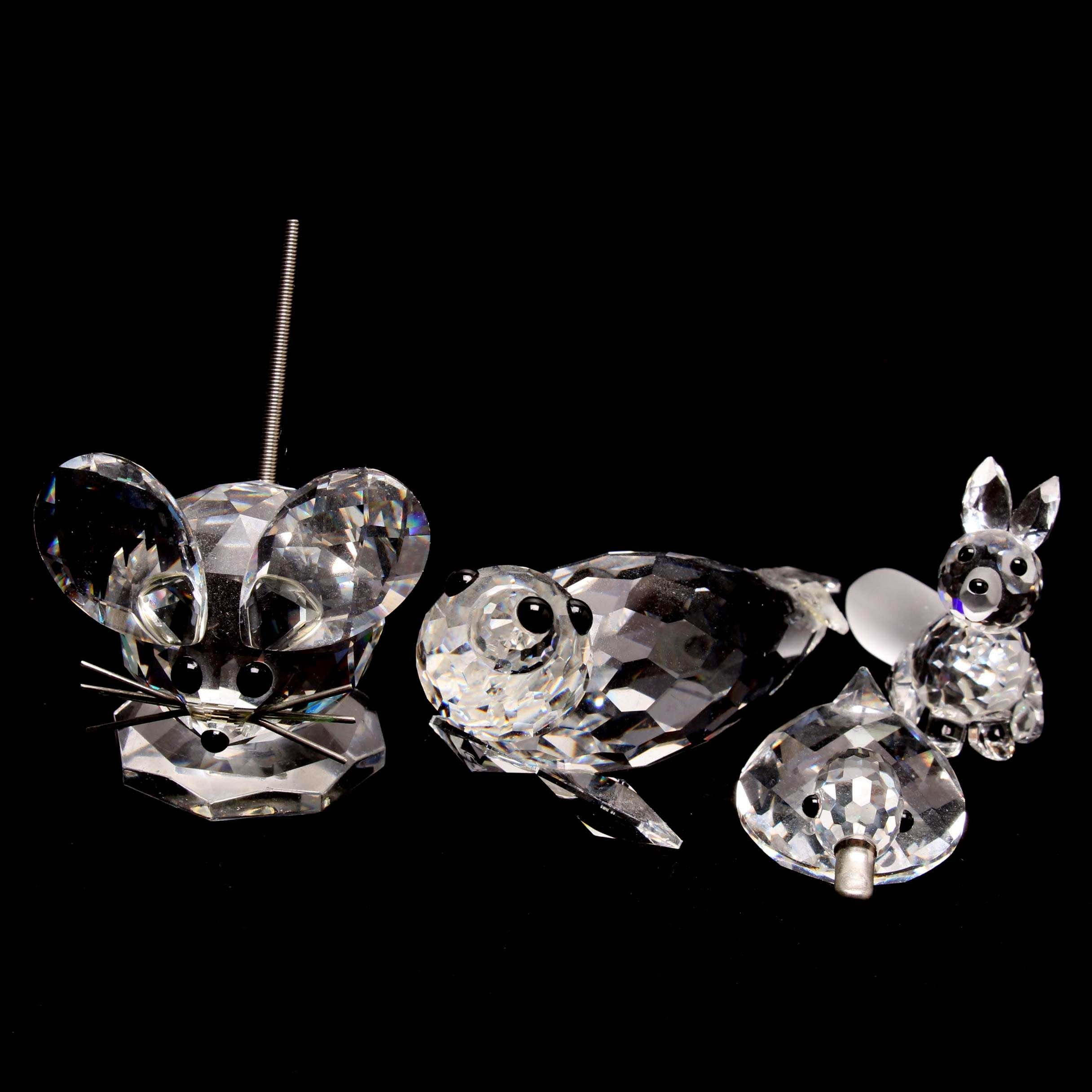 Swarovski Crystal Miniature Animal Figurines