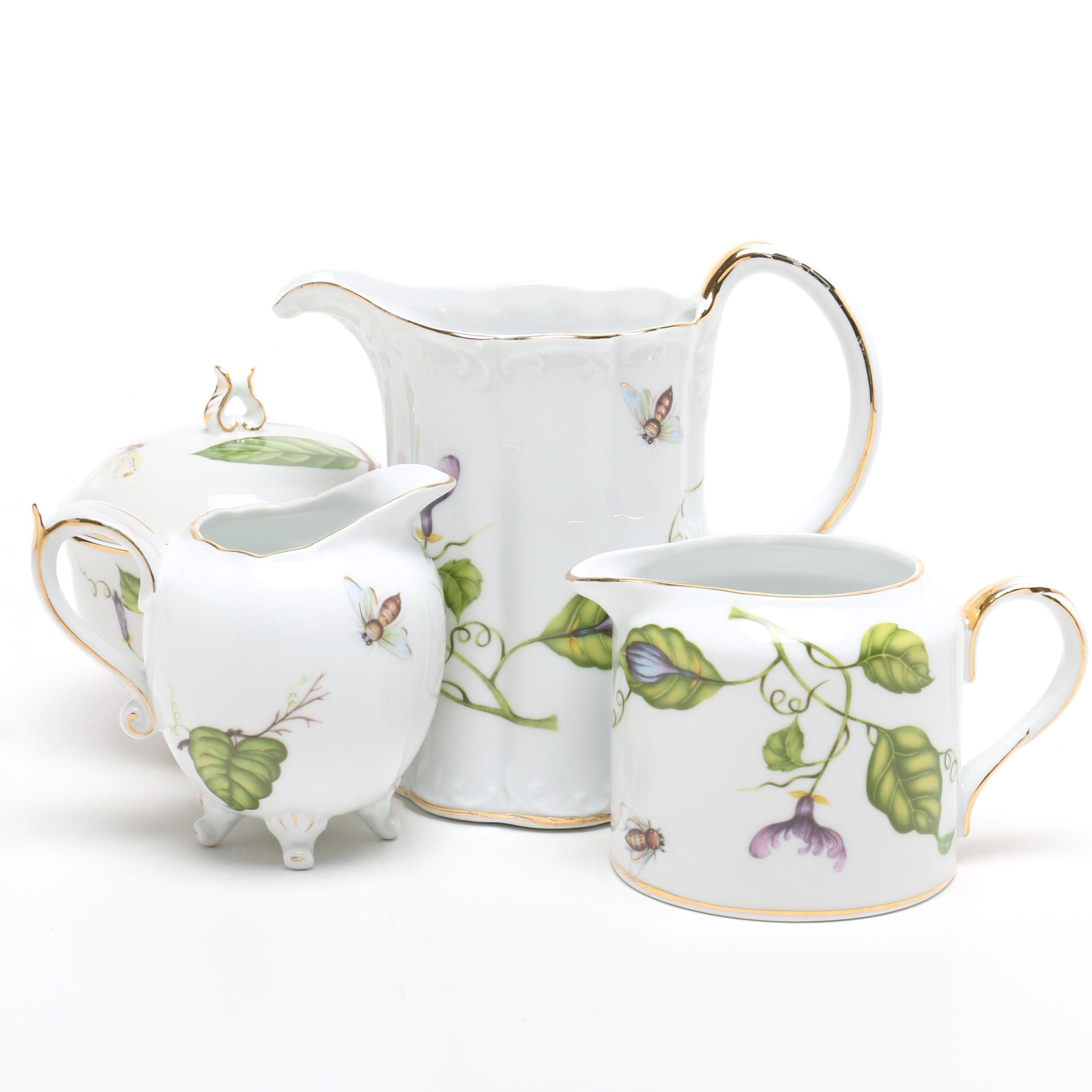 "L. Godinger & Co. ""Jardin"" Porcelain Tea Set"