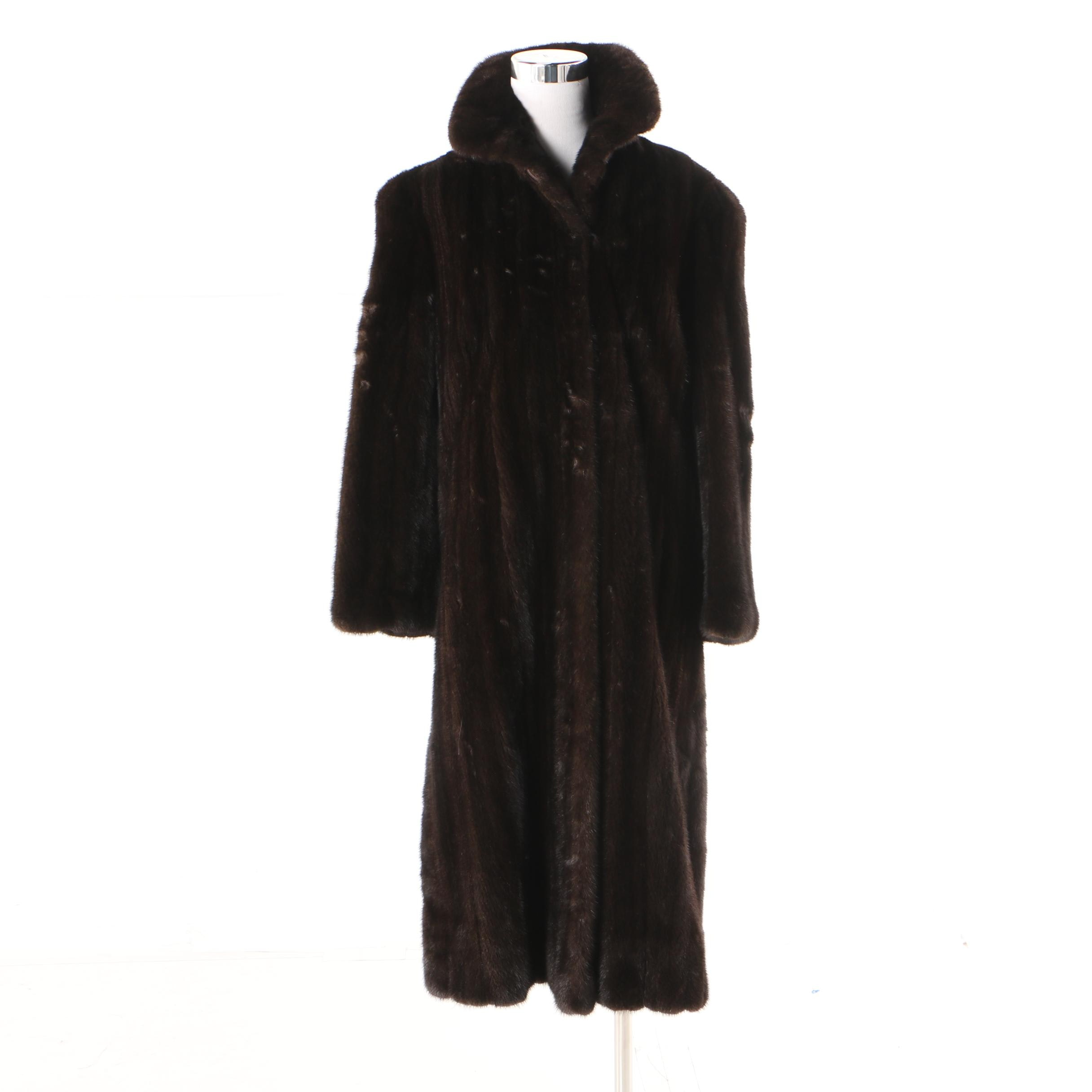 Women's Vintage Heinemann Dark Brown Mink Fur Coat