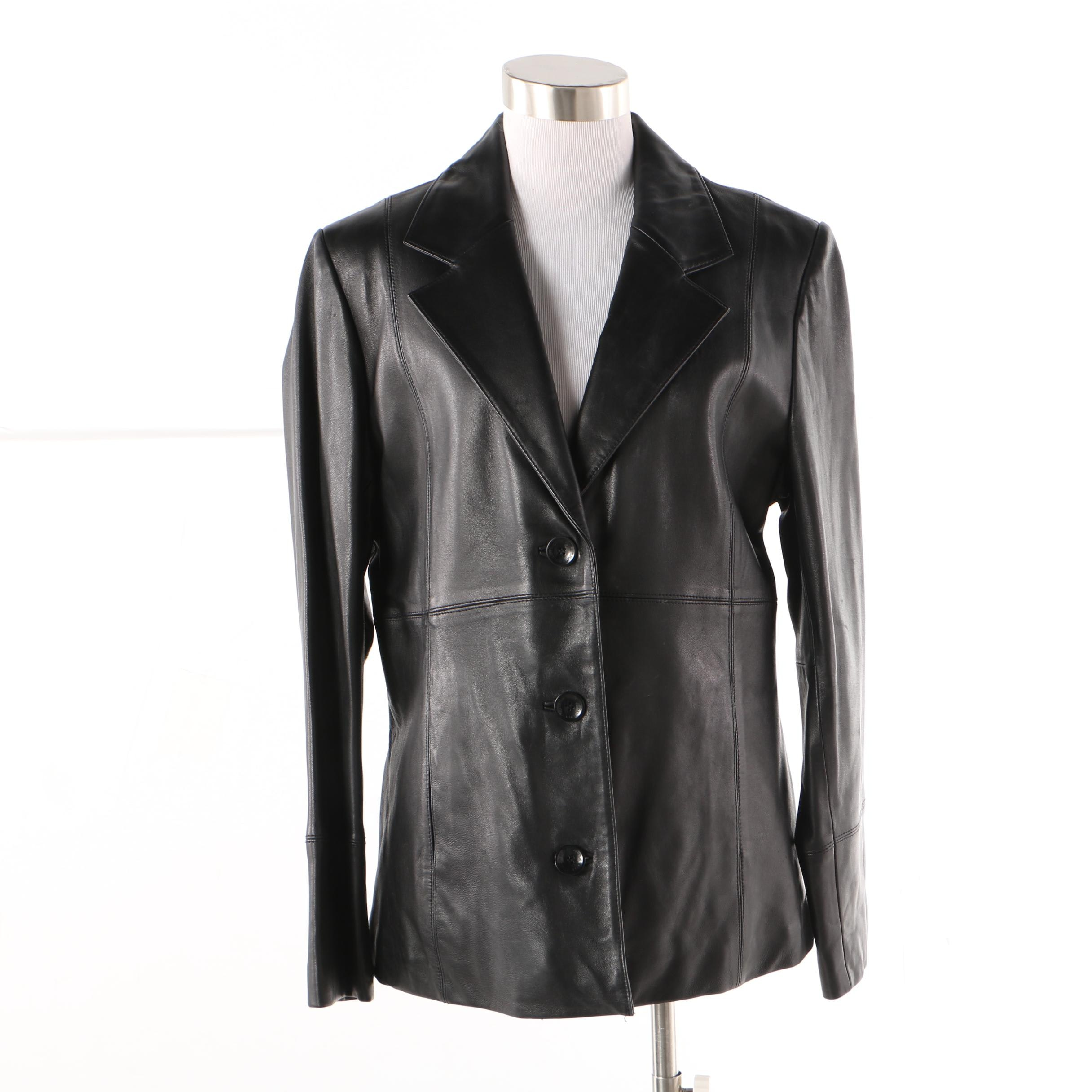 Wilsons Leather Insulated Black Leather Jacket