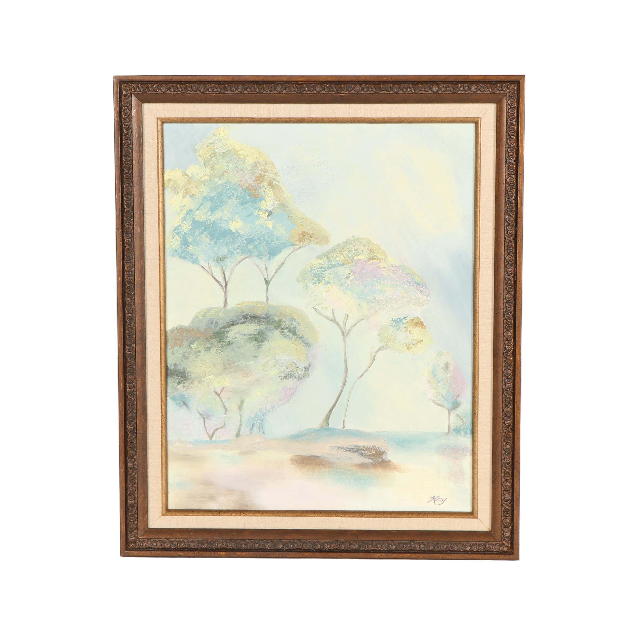 Kay Ethereal Landscape Oil Painting