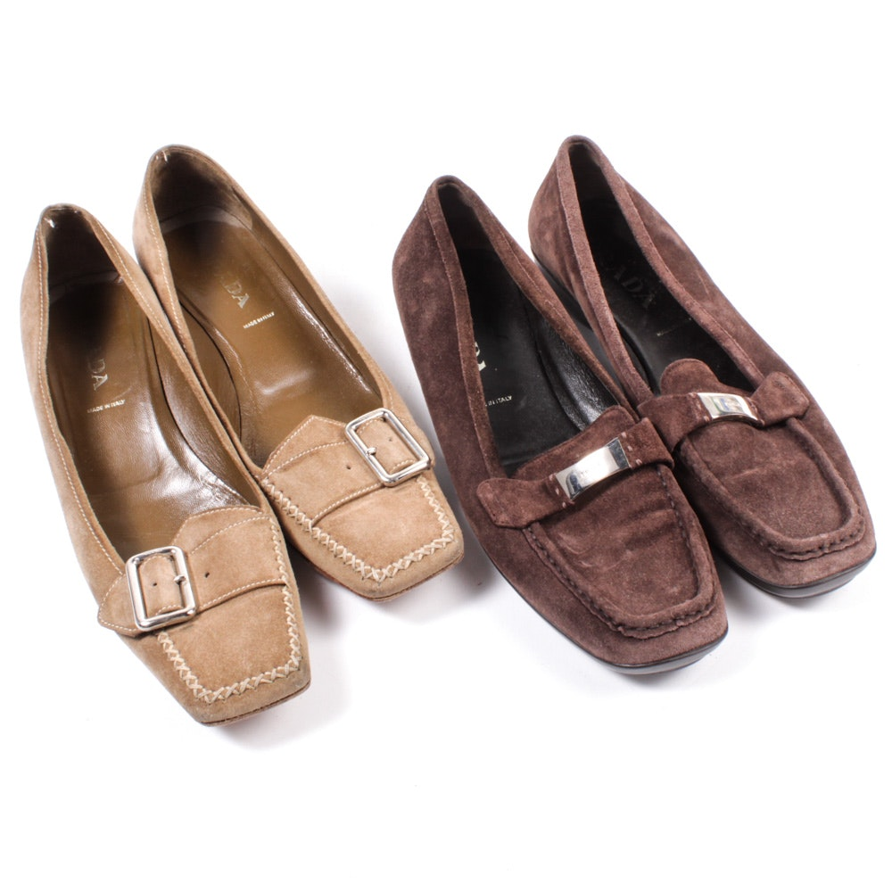 Women's Prada Suede Loafers