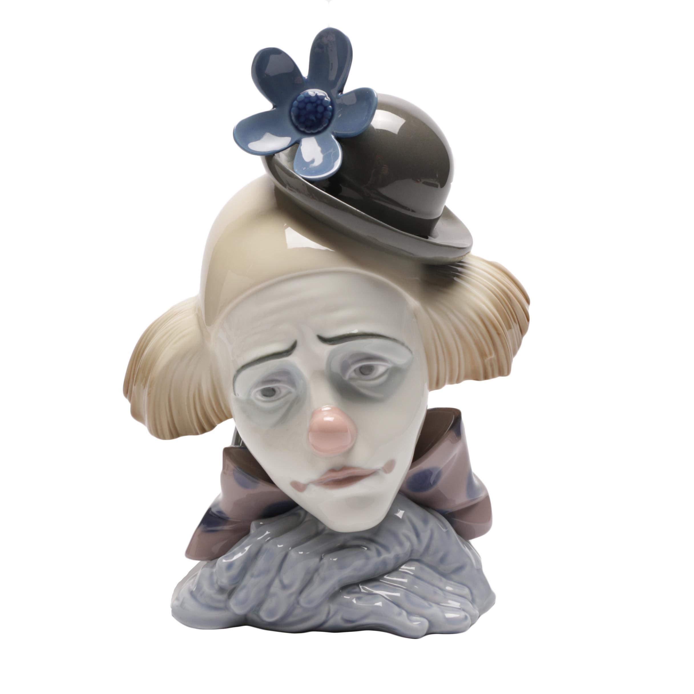 "Lladró ""Pensive Clown"" Figurine"