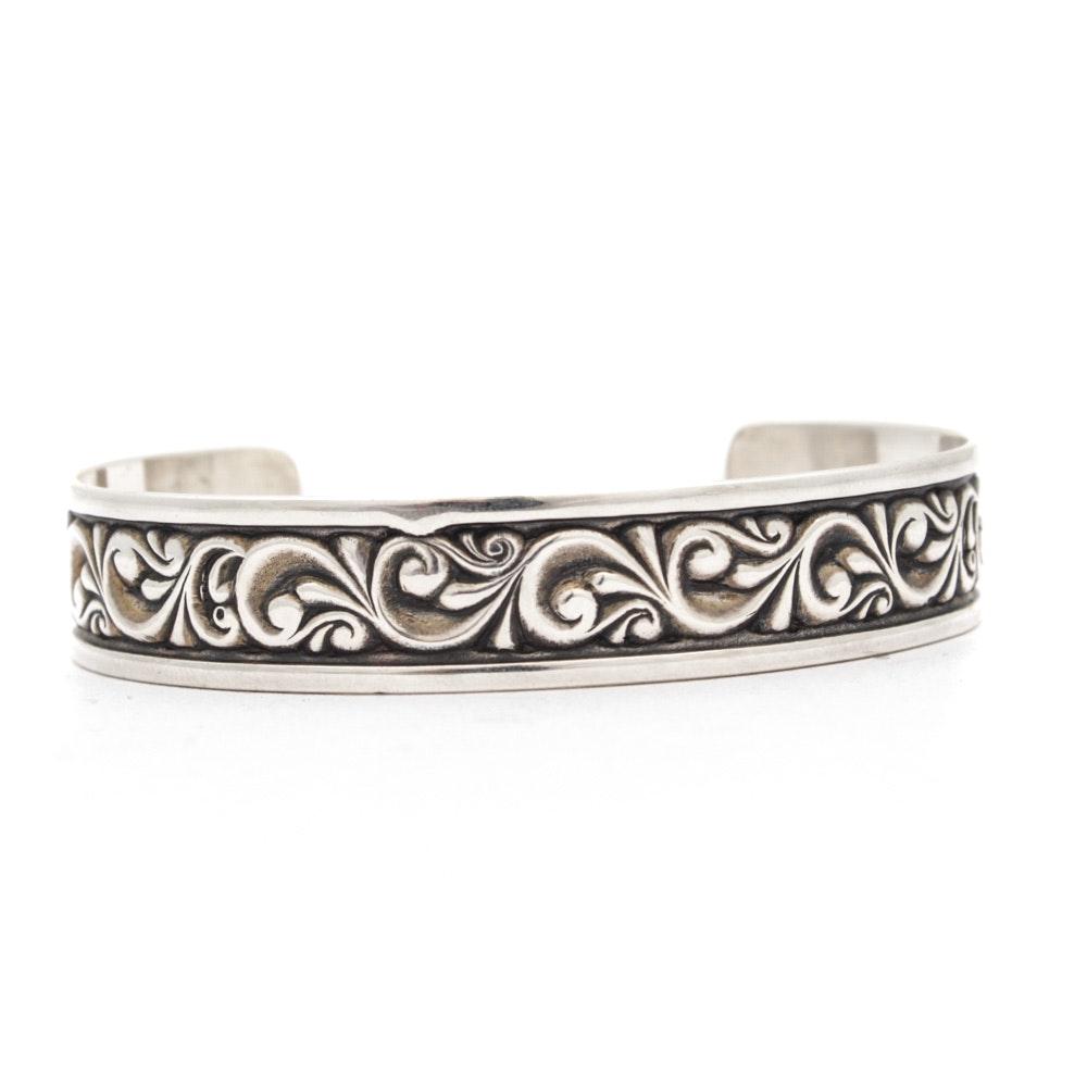 Ed Levin Sterling Silver Cuff Bracelet