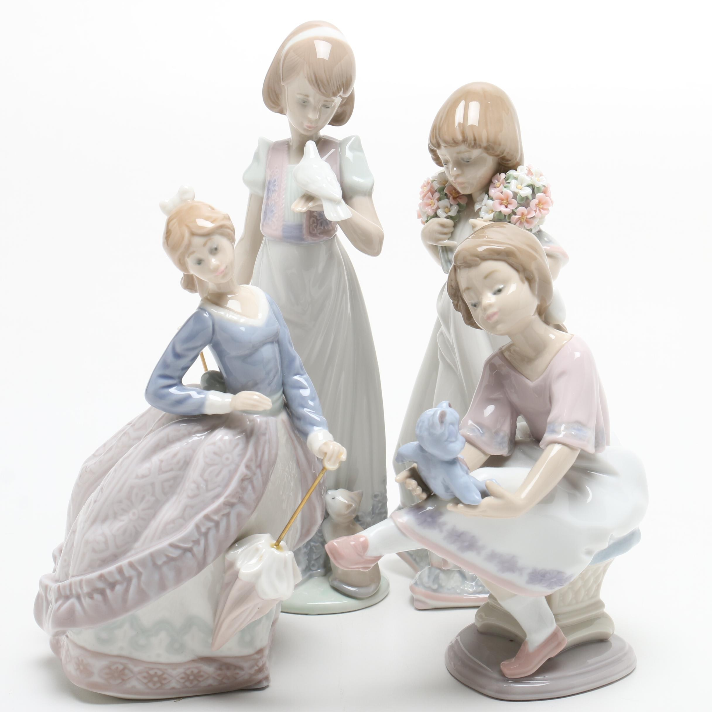 Lladró Young Girl Porcelain Figurines