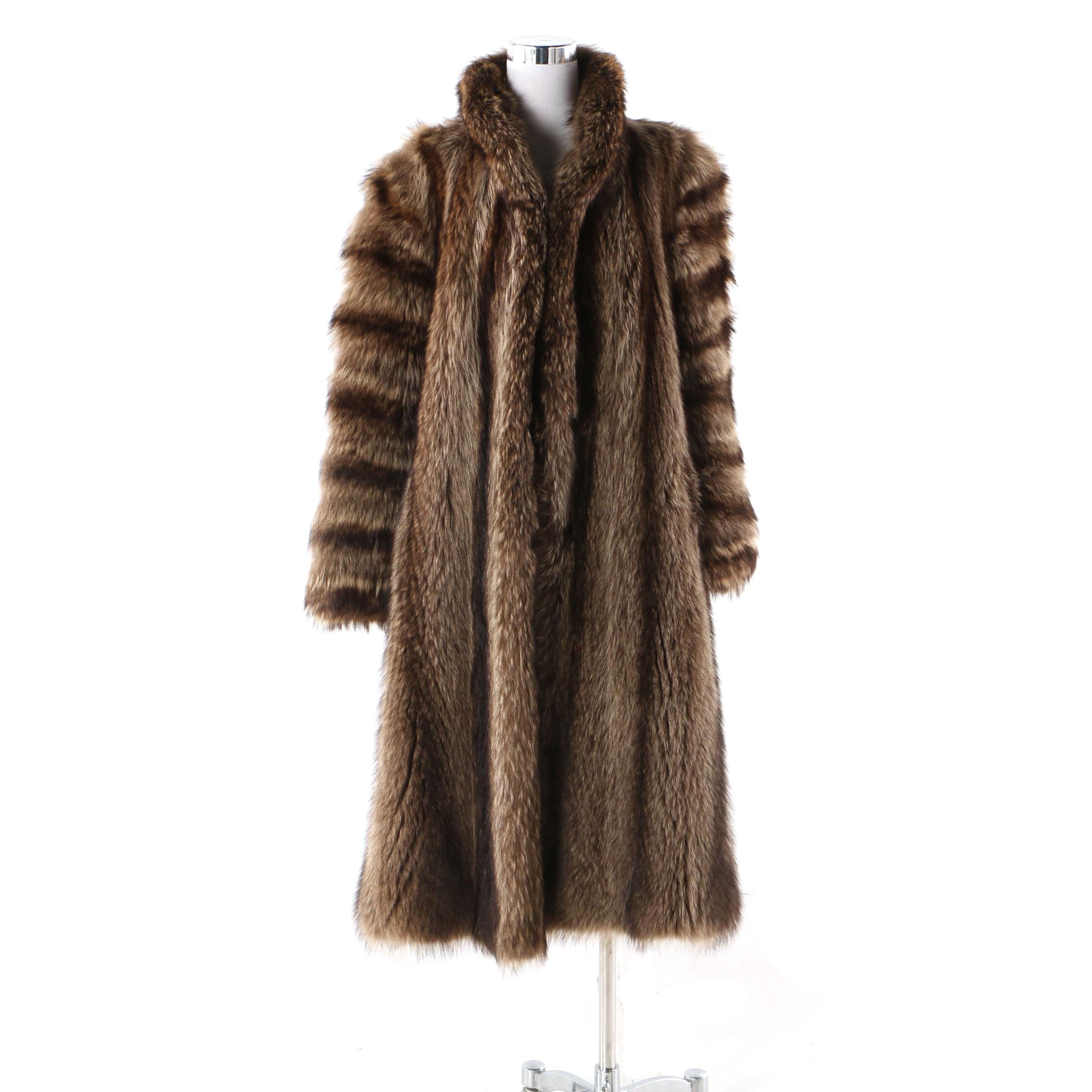 Women's Raccoon Fur Coat