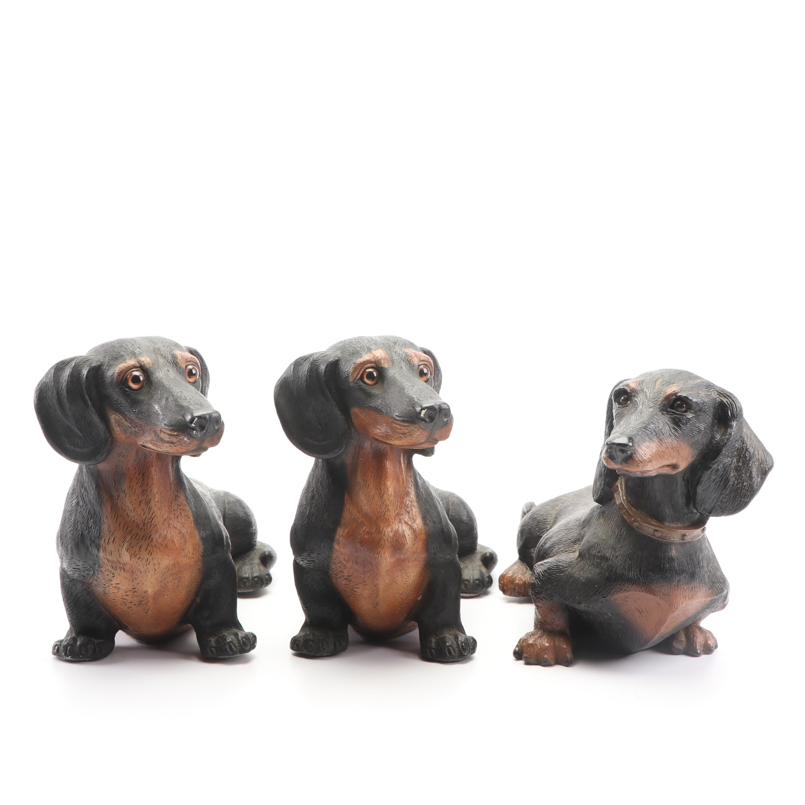 Universal Statuary Cast Resin Dachshund Figures