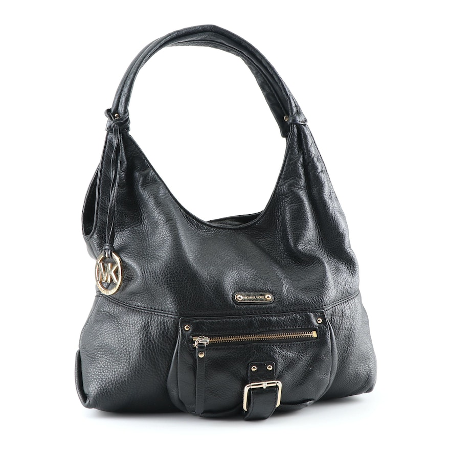 61b698b5ce3d MICHAEL Michael Kors Black Pebbled Leather Hobo Bag : EBTH