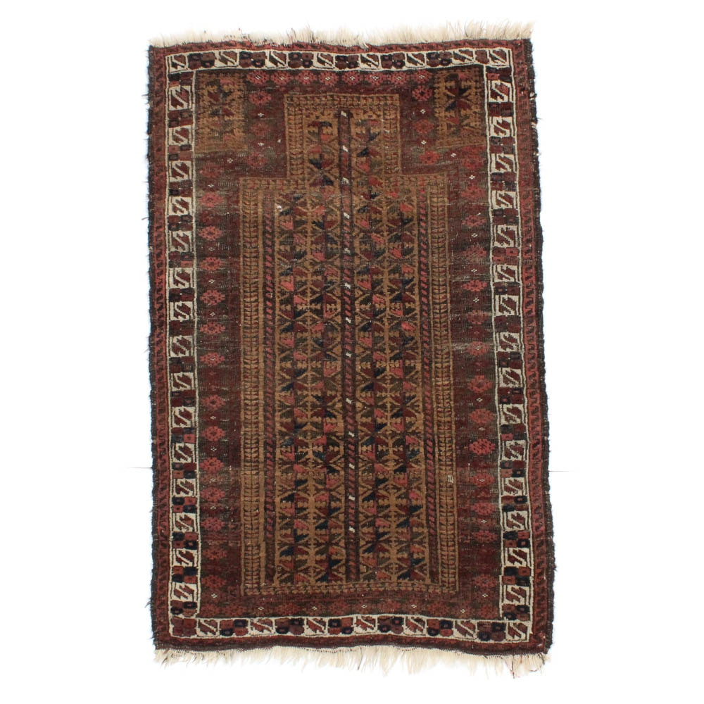 2'11 x 5'2 Hand-Knotted Persian Baluch Rug