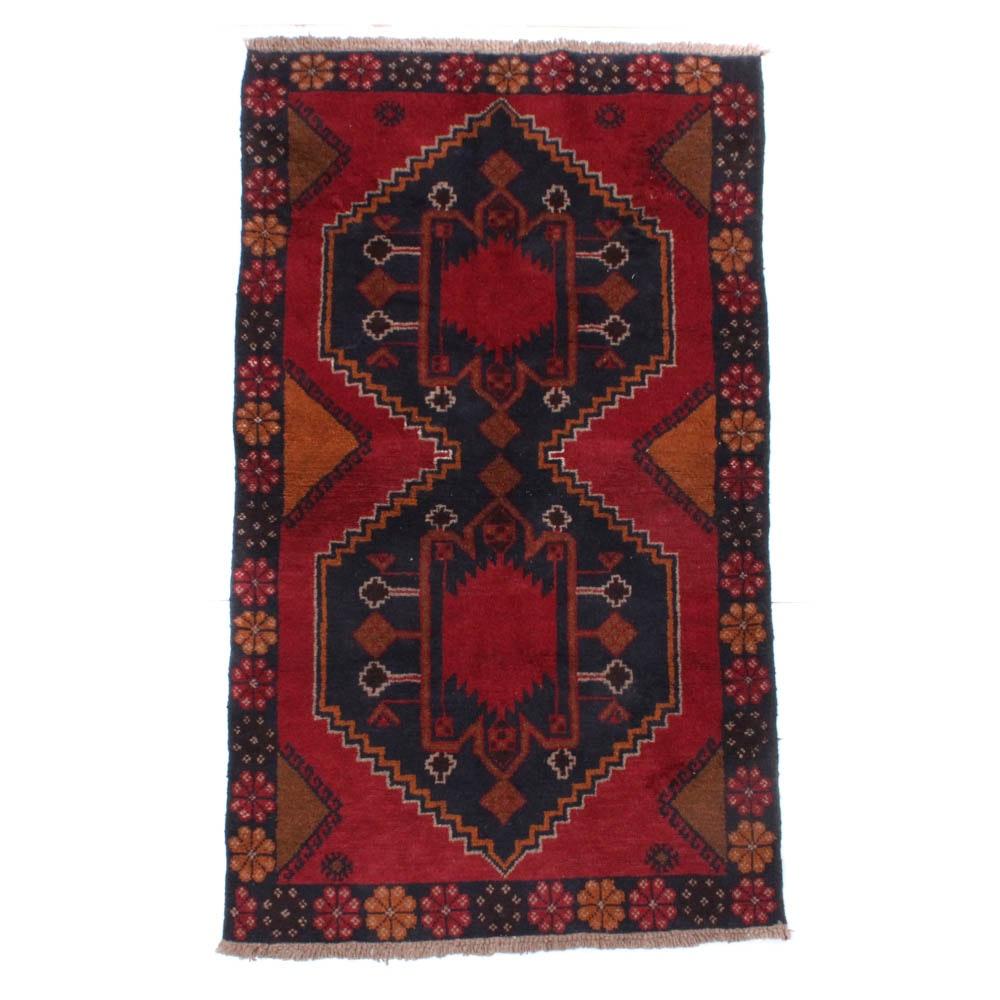 3'5 x 6'3 Hand-Knotted Afghani Turkoman Rug, circa 1980