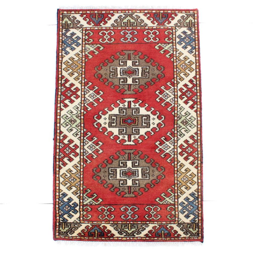 3'1 x 5'5 Hand-Knotted Indo-Caucasian Kazak Rug