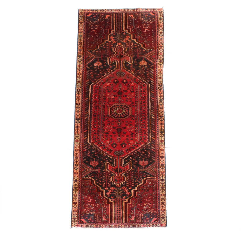 Hand-Knotted Persian Malayer Carpet Runner