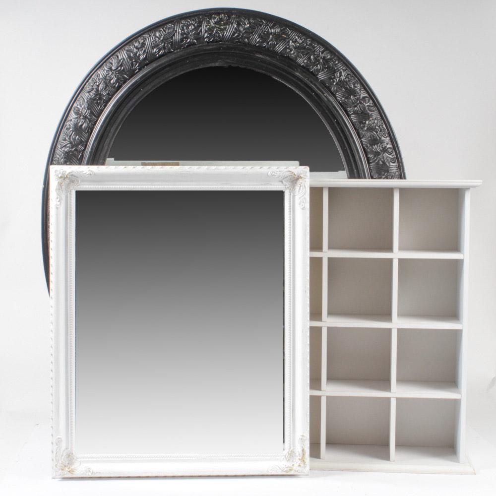 Wall Mirrors with Hanging Display Shelf