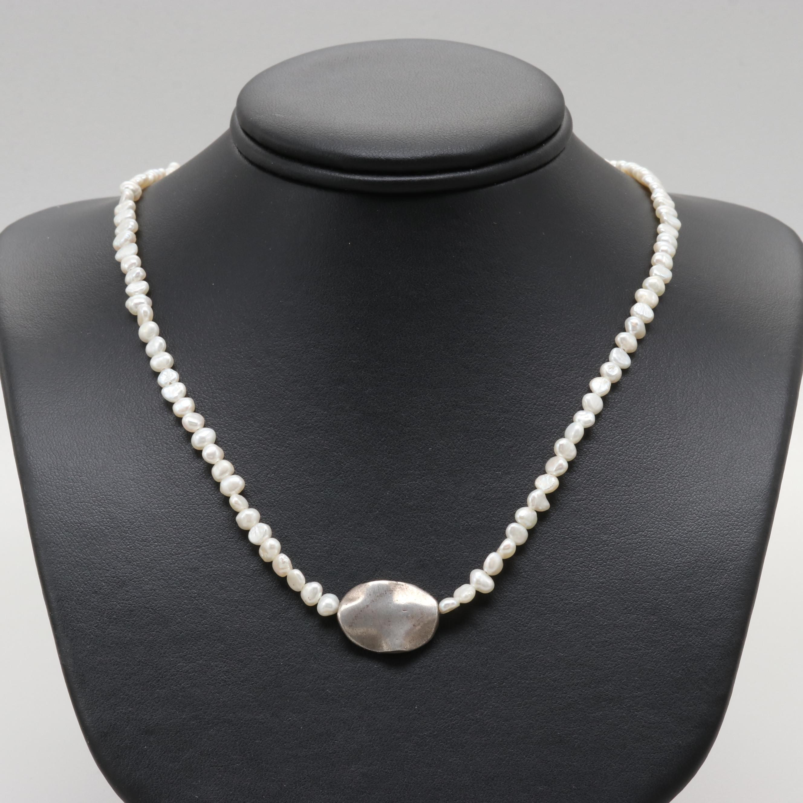 J. Jill Sterling Silver Cultured Pearl Necklace