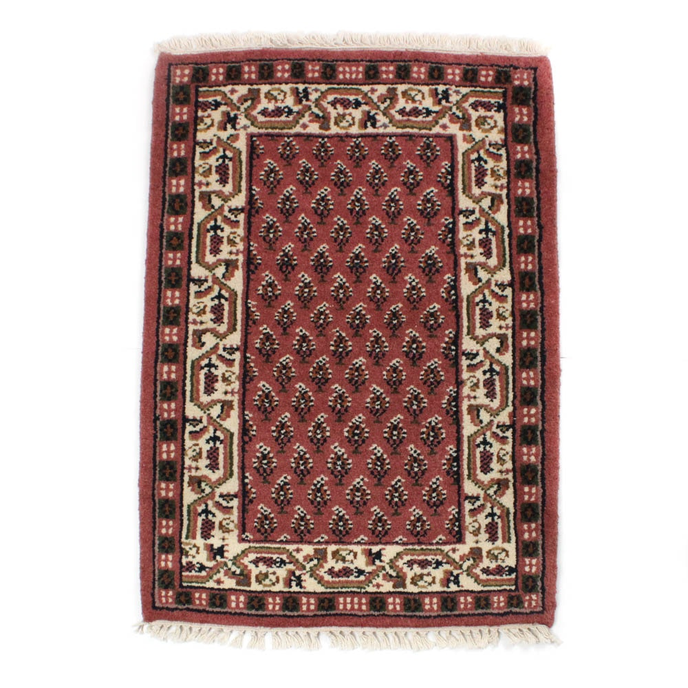 2'1 x 3'3 Hand-Knotted Indo-Persian Mir Seraband Rug