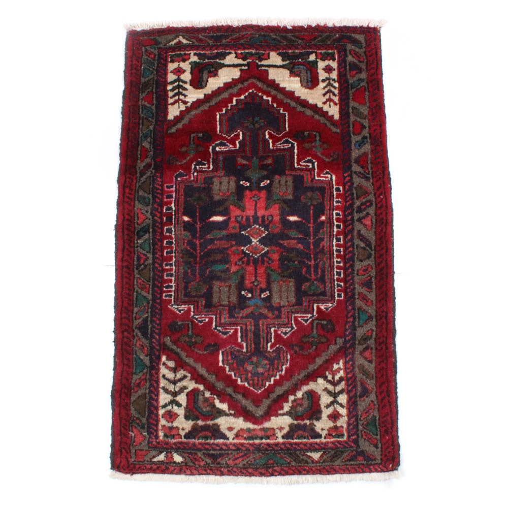 Hand-Knotted Persian Zanjan Rug, circa 1980