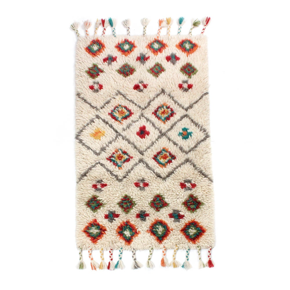 3'2 x 6'1 Hand-Knotted Moroccan Rug