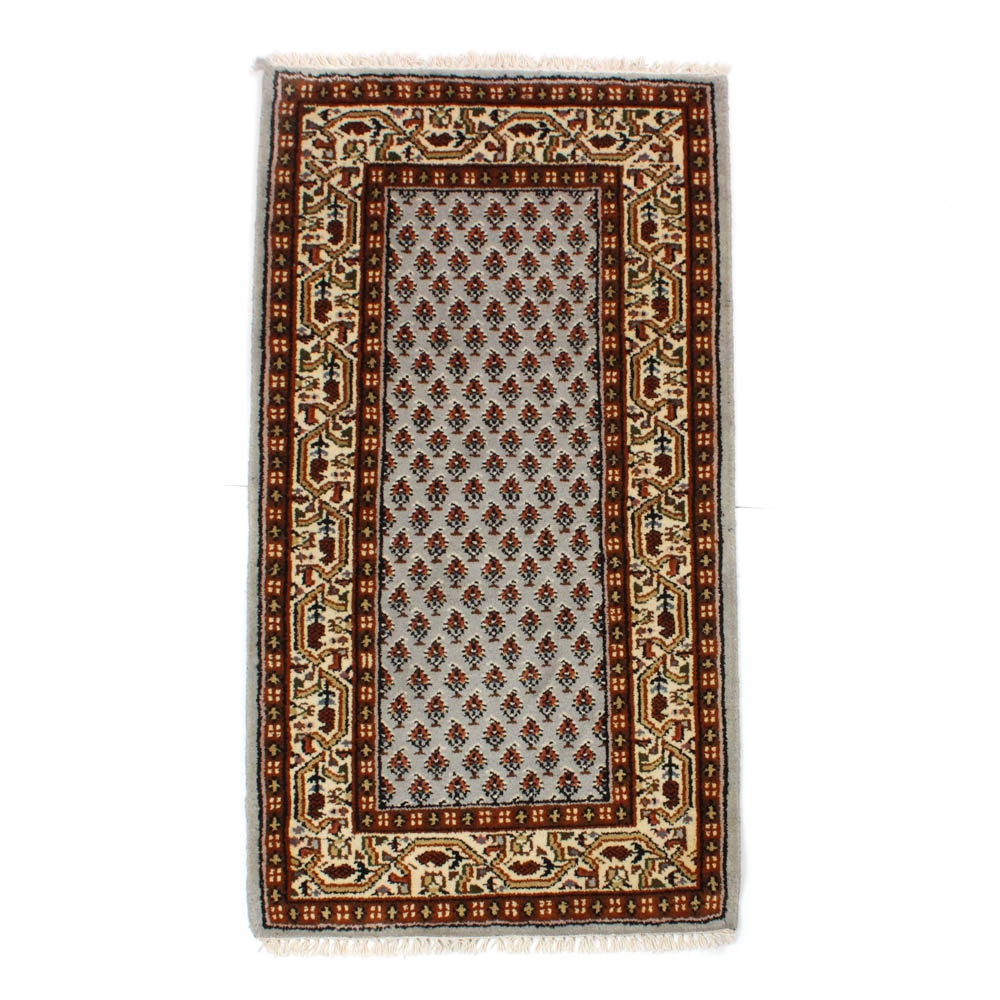 2'5 x 4'9 Hand-Knotted Indo-Persian Mir Seraband Rug