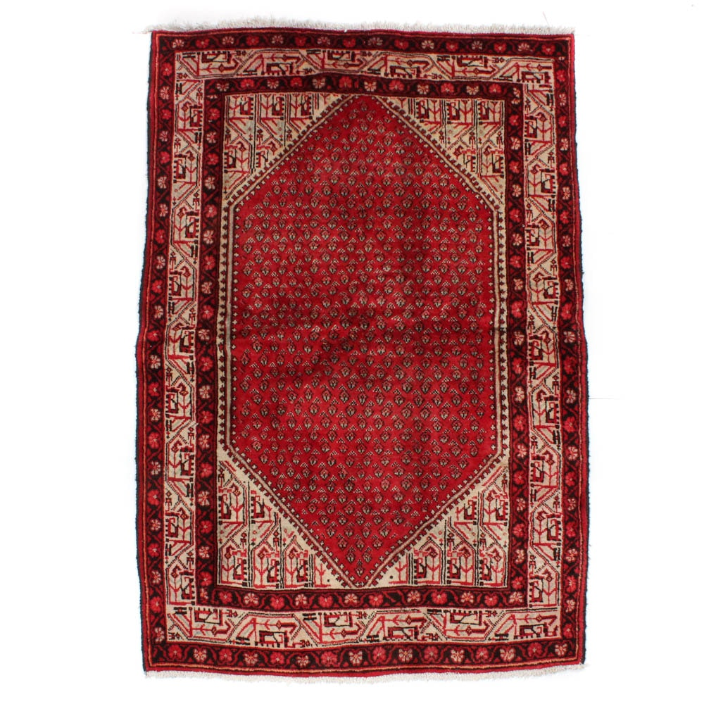 Hand-Knotted Persian Mir Seraband Rug