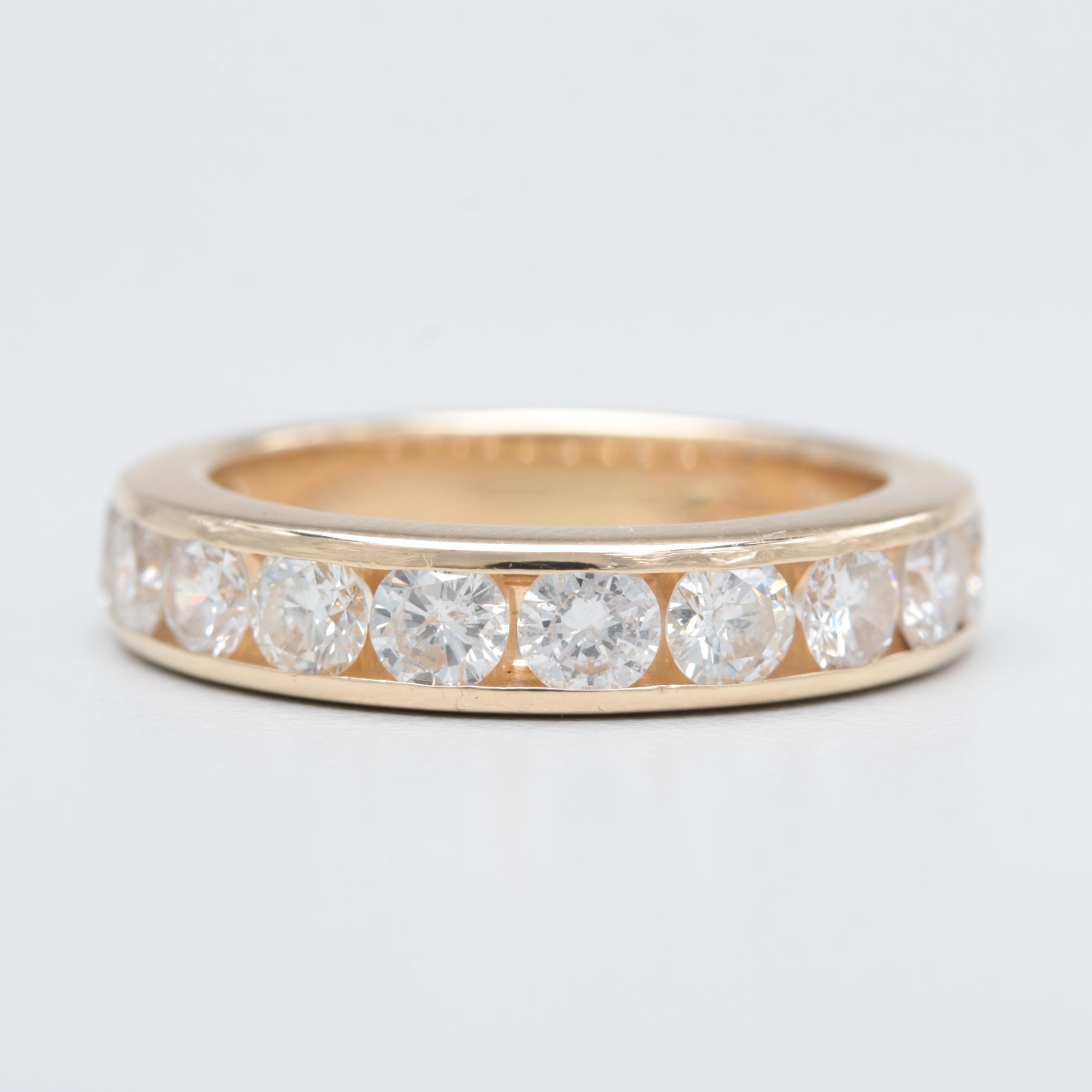 14K Yellow Gold 1.98 CTW Diamond Ring