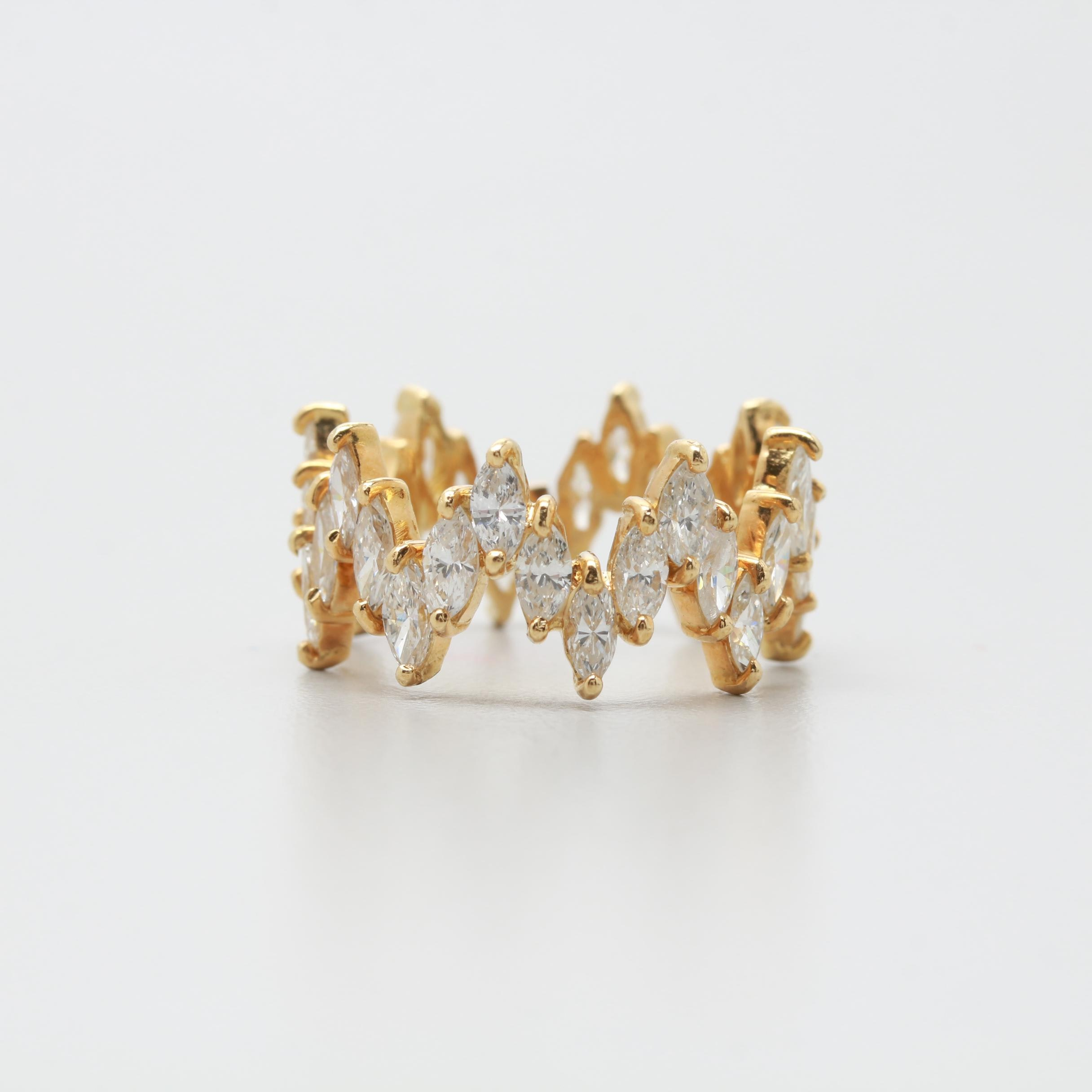 18K Yellow Gold 4.96 CTW Diamond Ring
