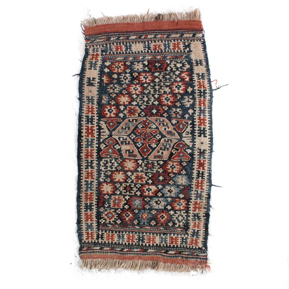 1'3 x 2'5 Hand-Woven Caucasian Soumak Rug, circa 1890