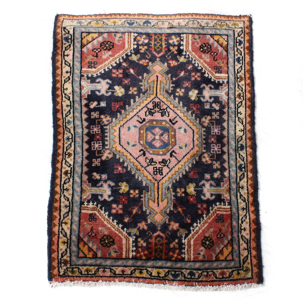 Hand-Knotted Persian Malayer Rug, circa 1920