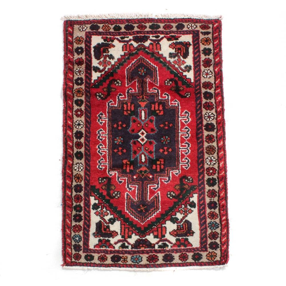 2'6 x 4'0 Hand-Knotted Persian Zanjan Rug, circa 1980
