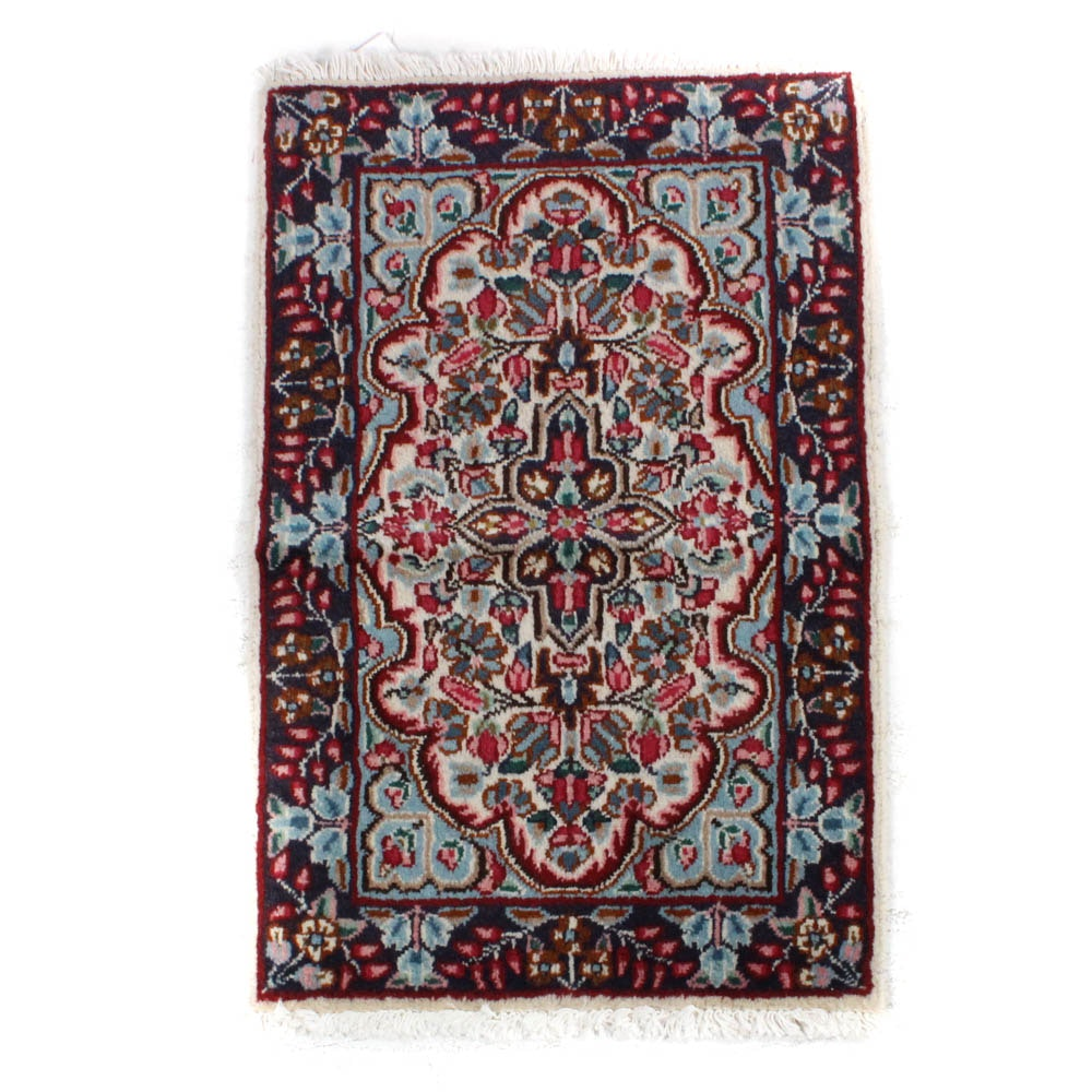 1'11 x 3'0 Hand-Knotted Persian Lavar Kerman Rug
