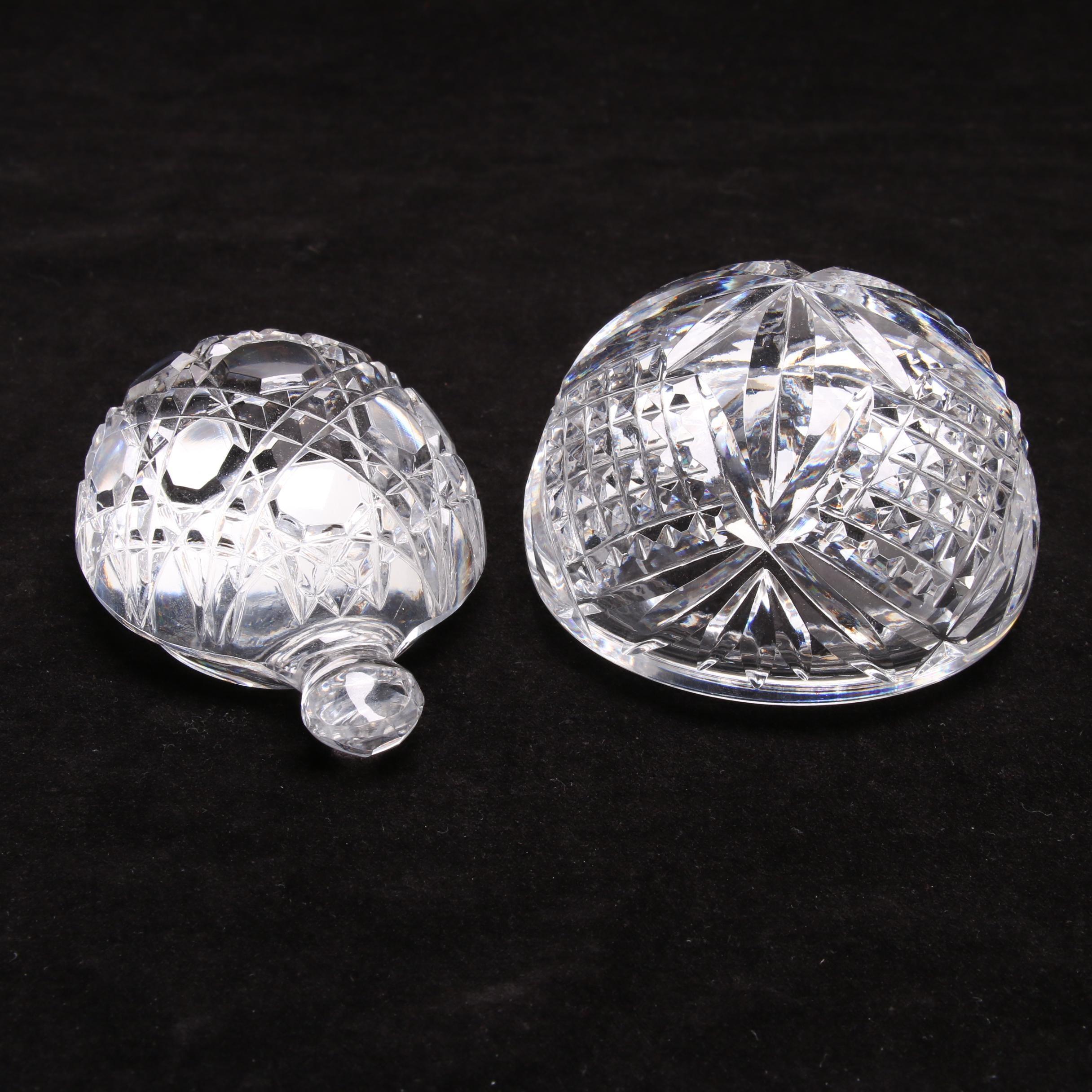 Pair of Waterford Crystal Paperweights