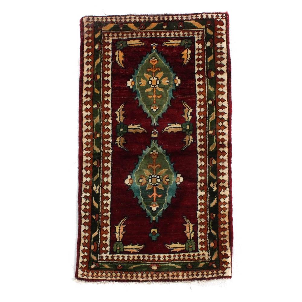 1'9 x 3'3 Hand-Knotted Persian Tabriz Rug, circa 1980