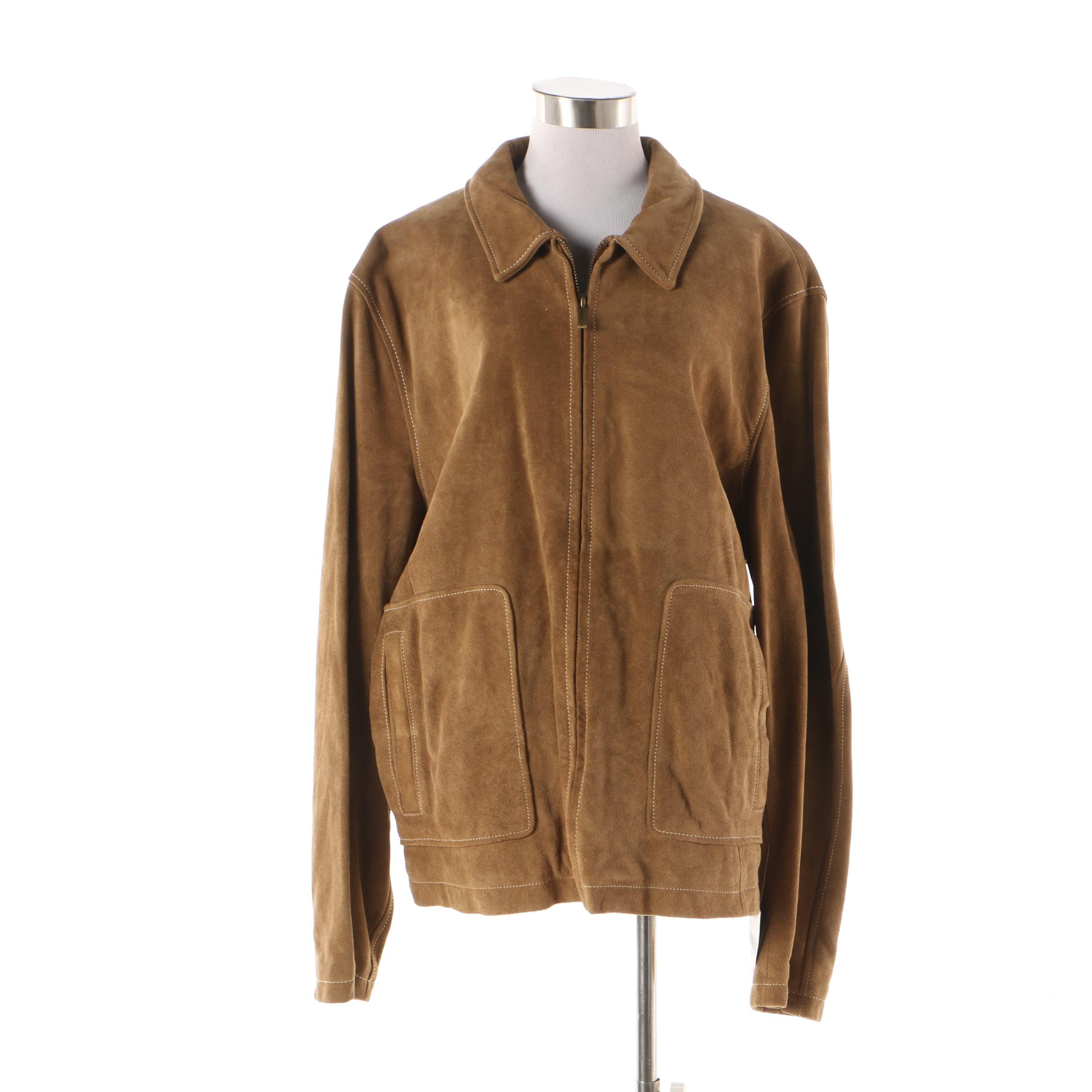 Wilsons Leather M. Julian Light Brown Suede Jacket