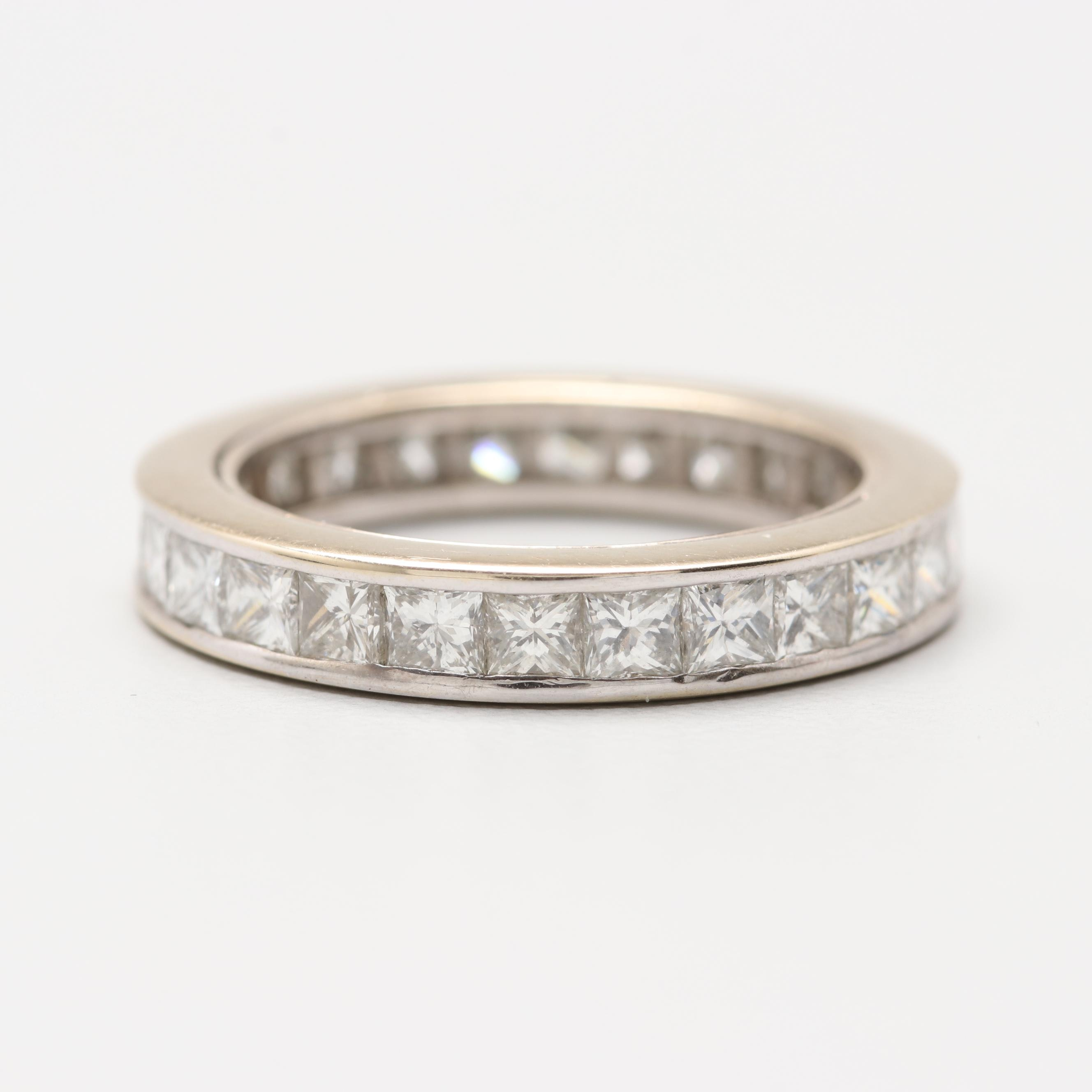 18K White Gold 2.21 CTW Diamond Eternity Band
