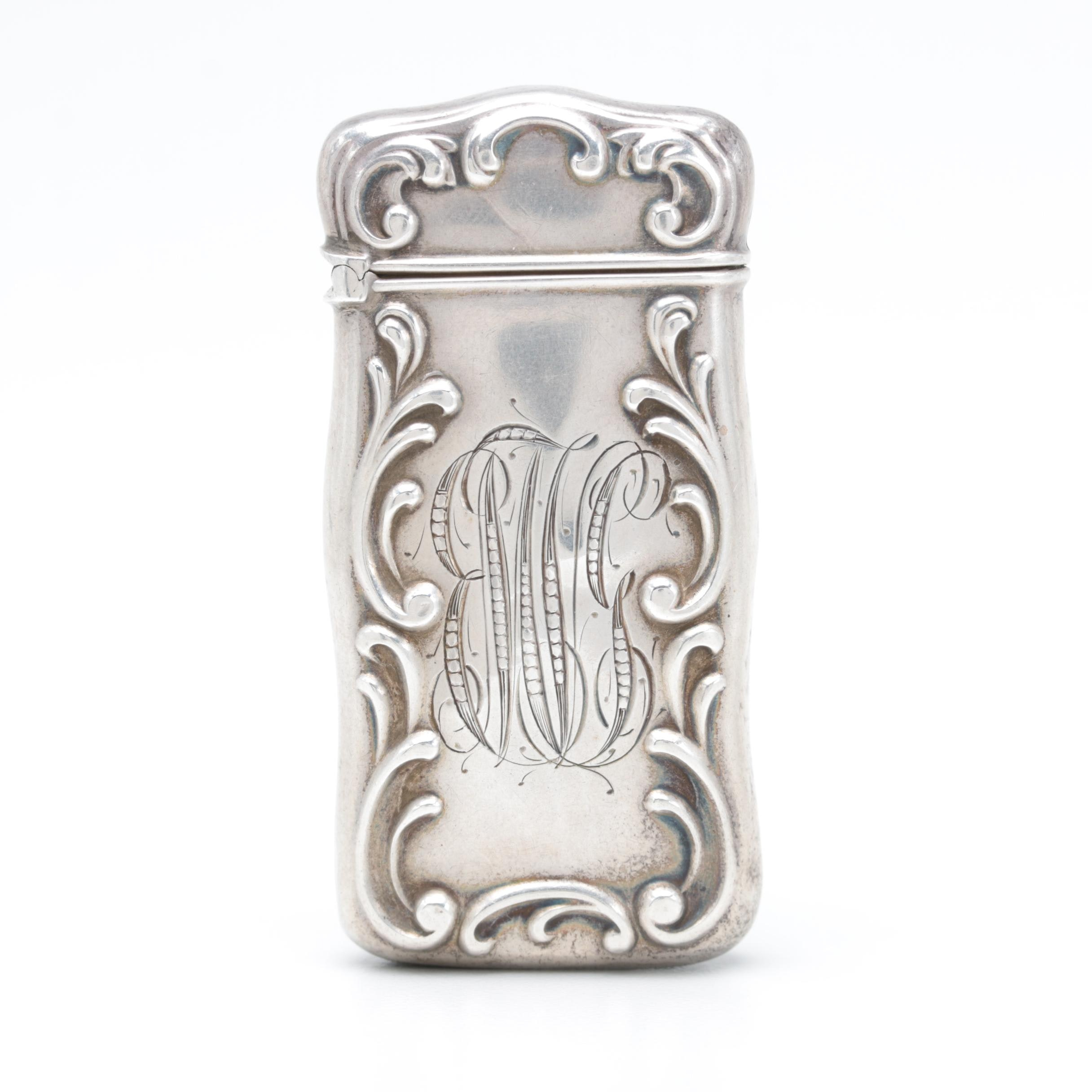 Antigue Gorham Sterling Silver Match Case