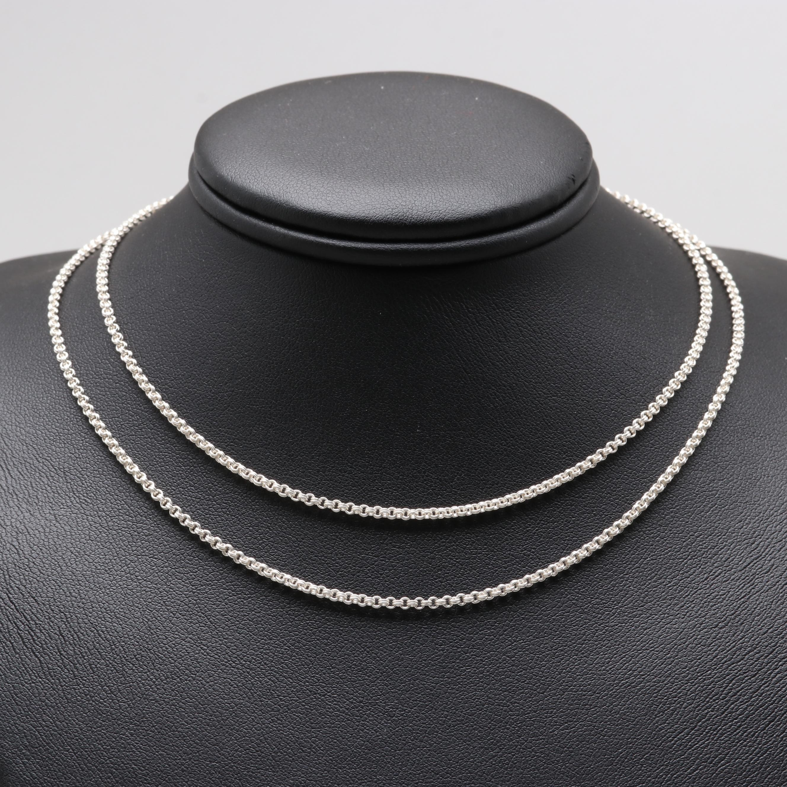 Sterling Sliver Cable Chain Necklace
