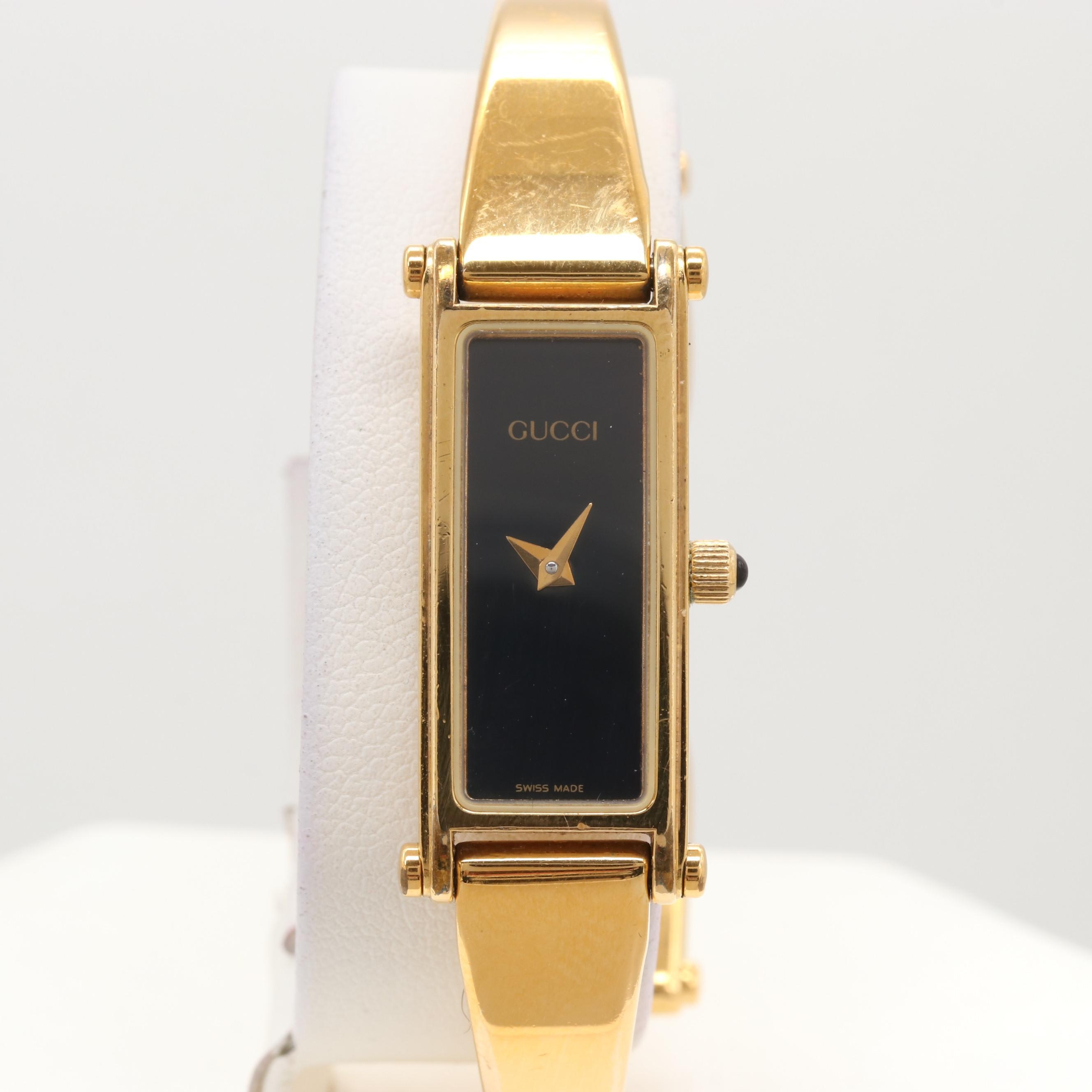 Gucci Gold Tone Quartz Wristwatch