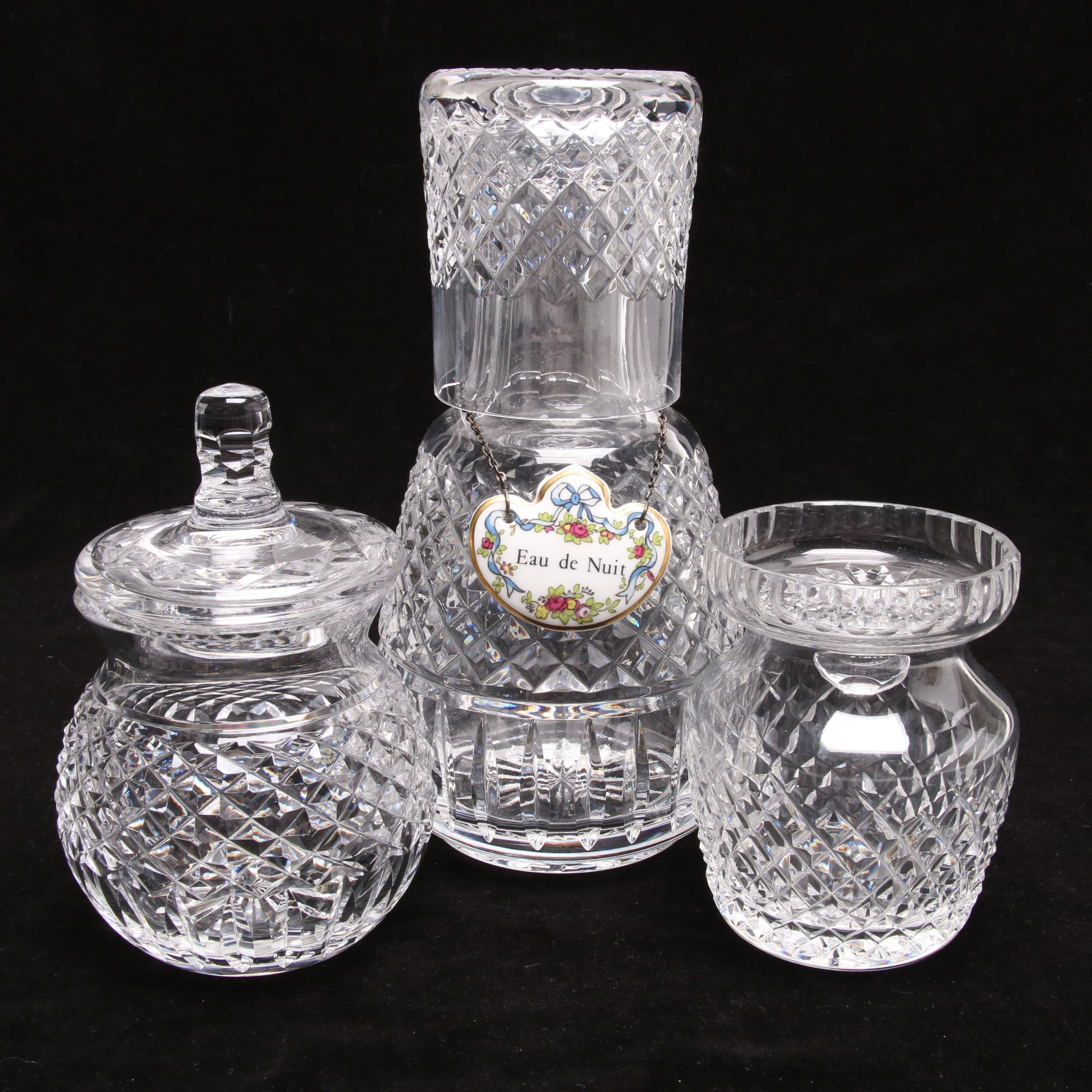 Waterford Crystal Jars, Water Carafe and Cup
